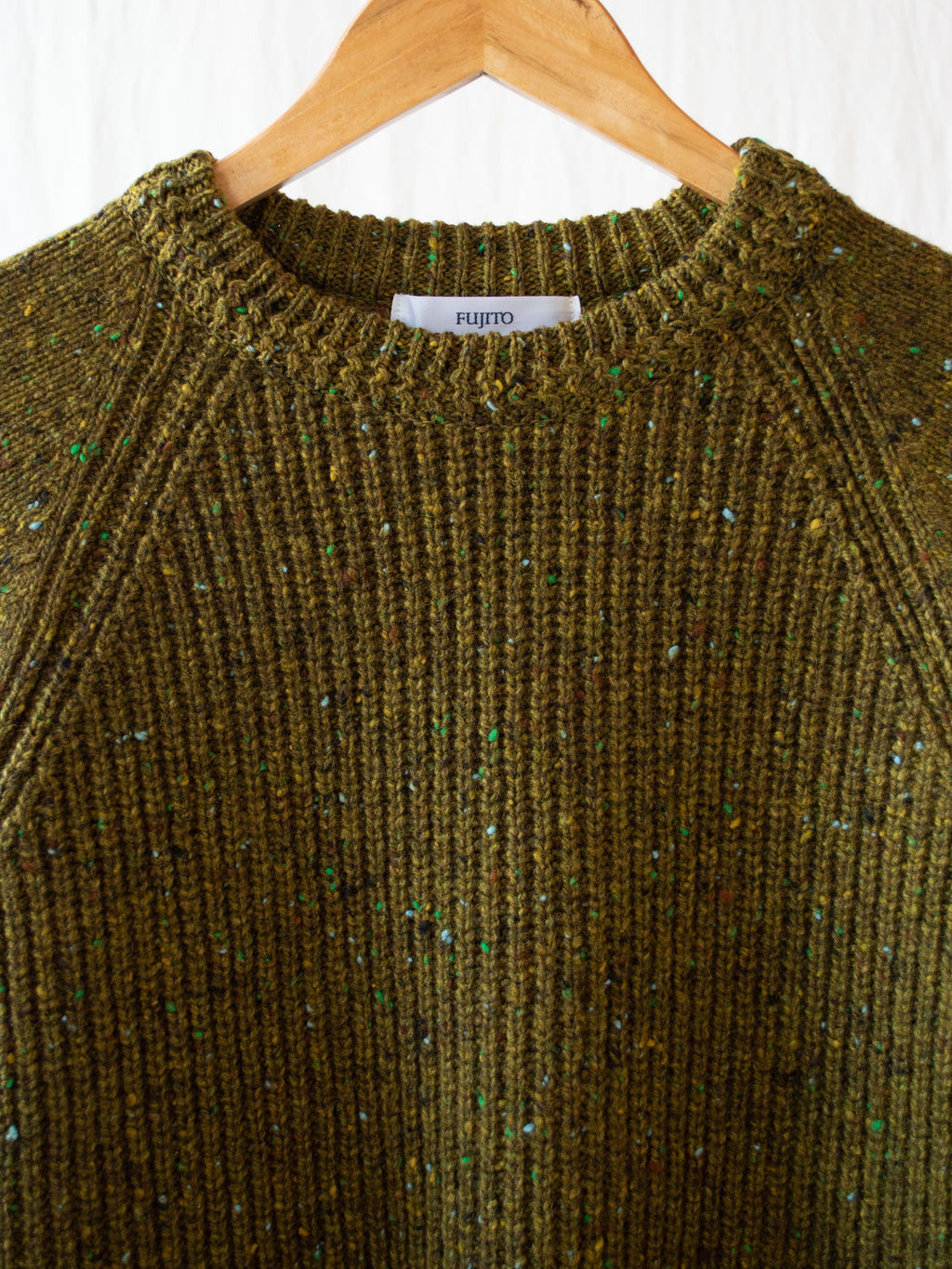 Namu Shop - Fujito Crewneck Rib Sweater - Moss Speckle (re-stocked)
