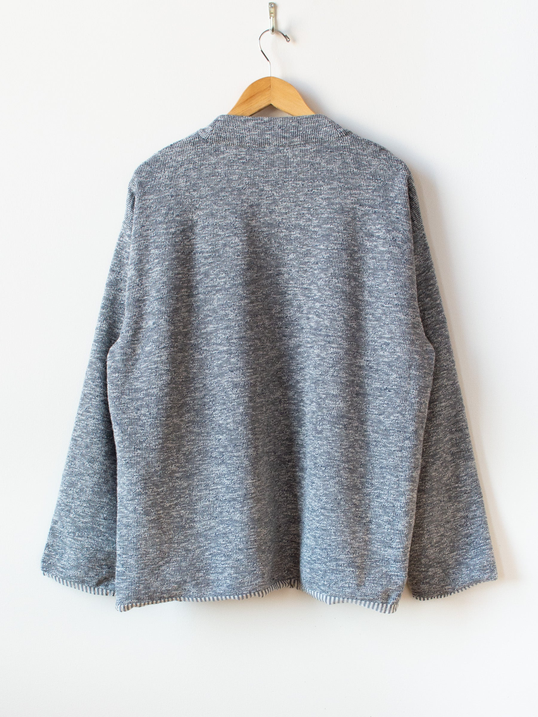Lined Easy Cardigan - Marled Navy
