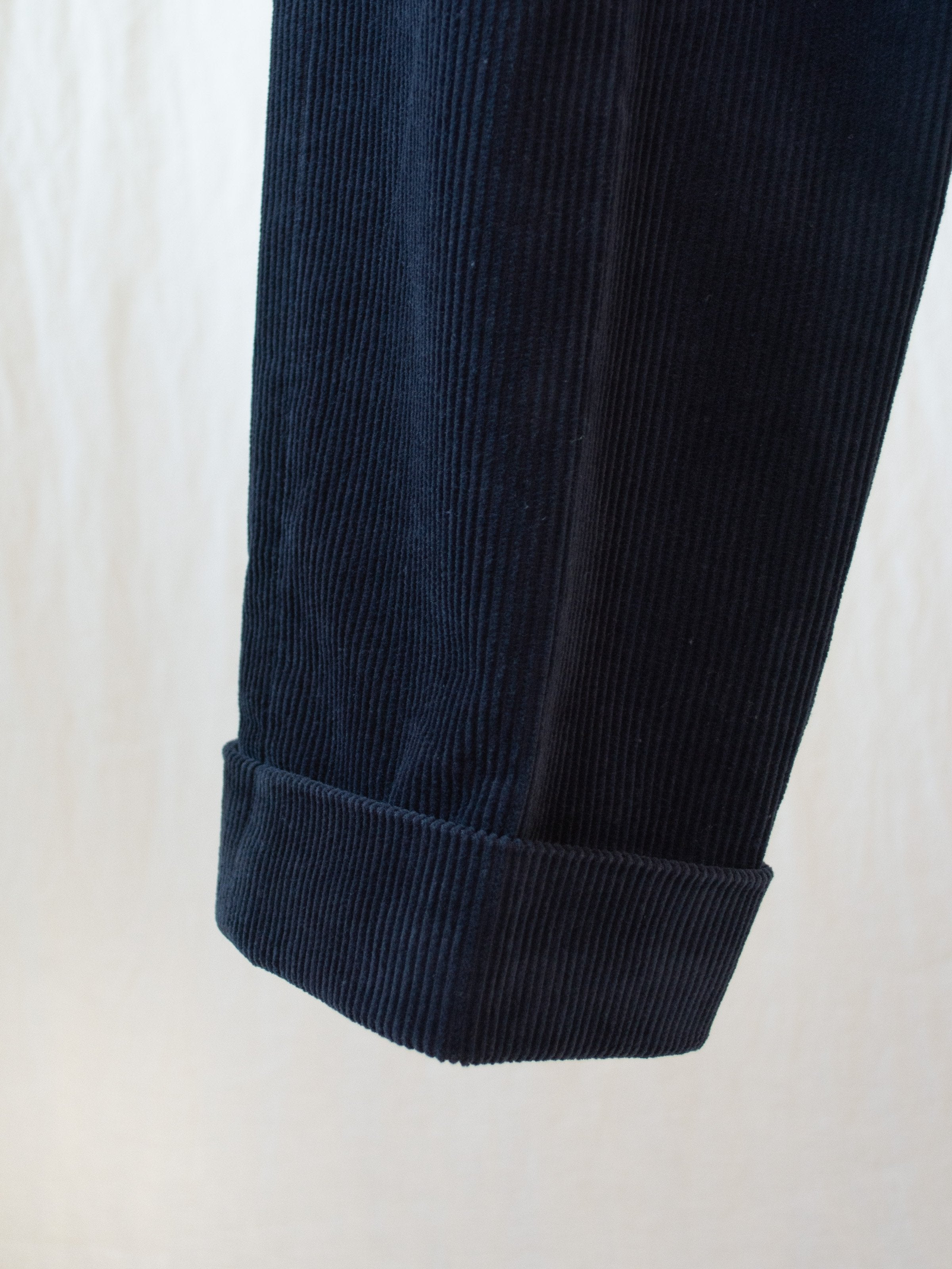 Namu Shop - Fujito Corduroy Wide Slacks - Navy