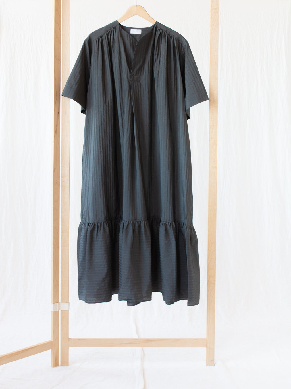 Namu Shop - Phlannel Summer Airy Dress - Deep Black