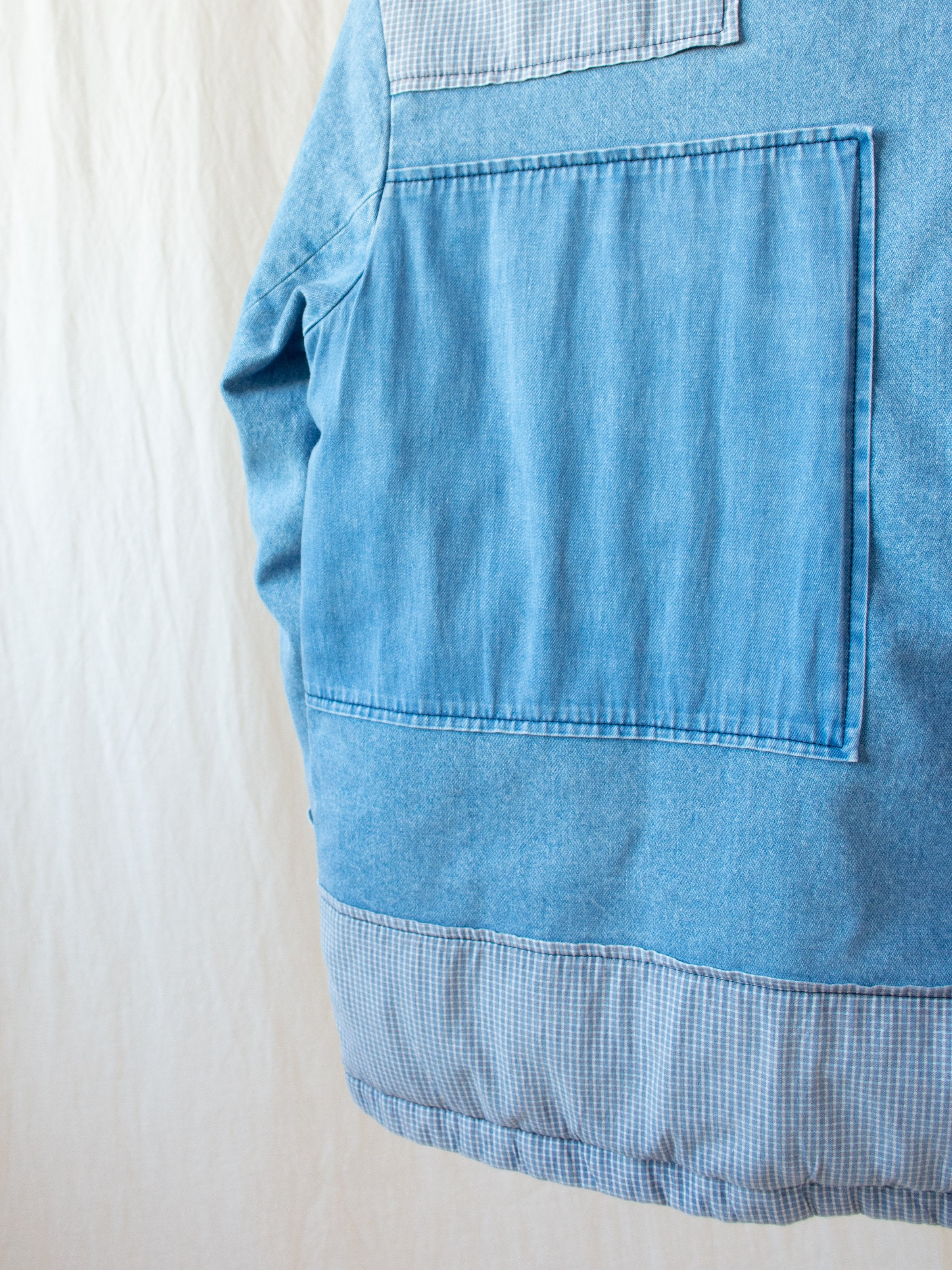 Paddington Jacket - Blue Denim Patchwork