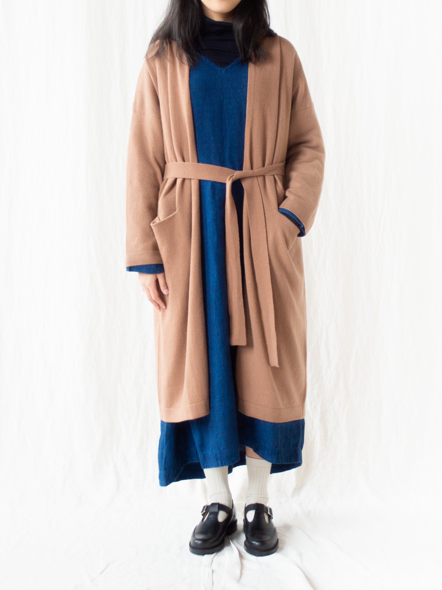 Wool Cashmere Cardigan - Camel