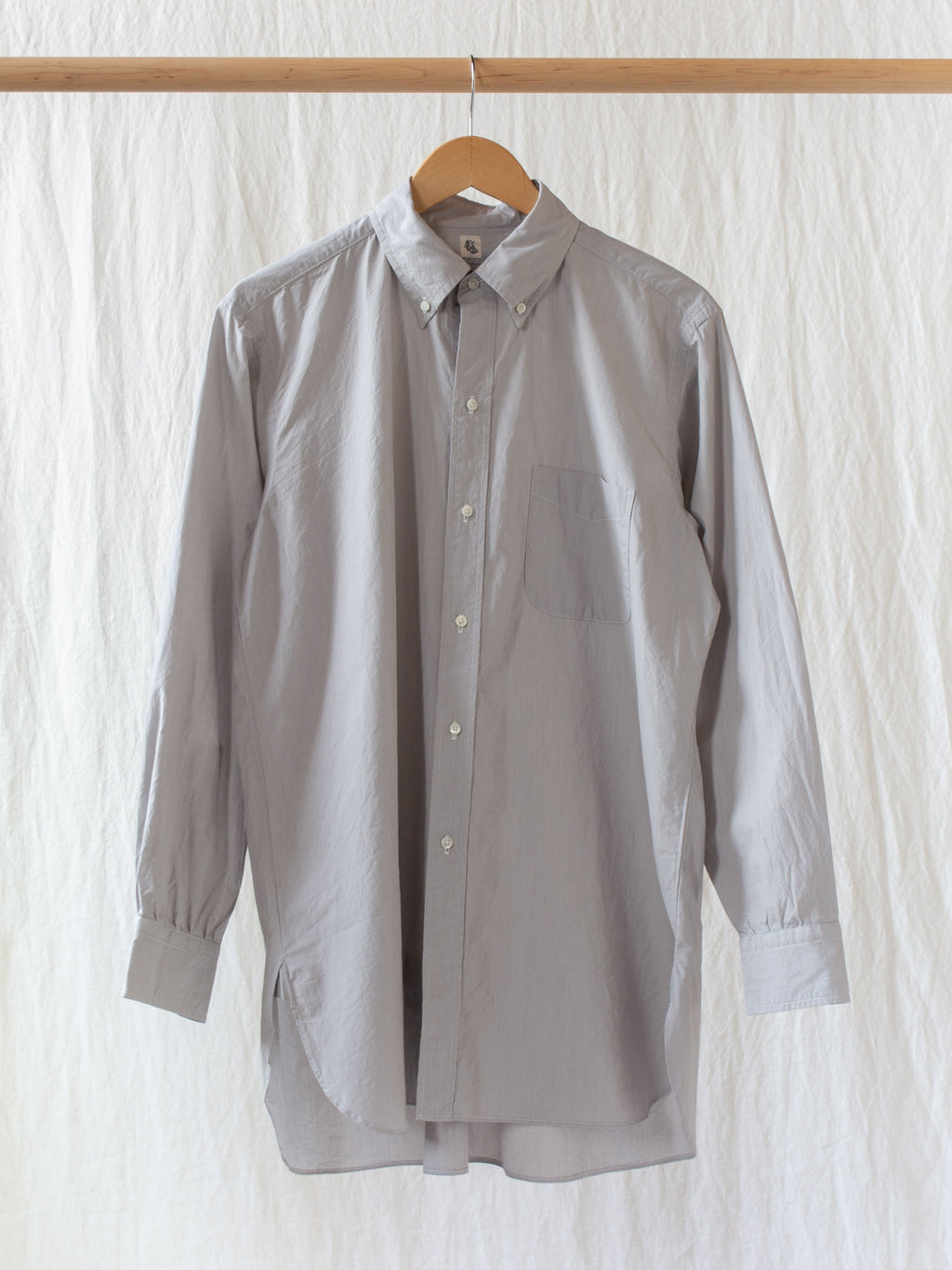 Namu Shop - Kaptain Sunshine Relax Button-down Shirt - Gray Pinstripe