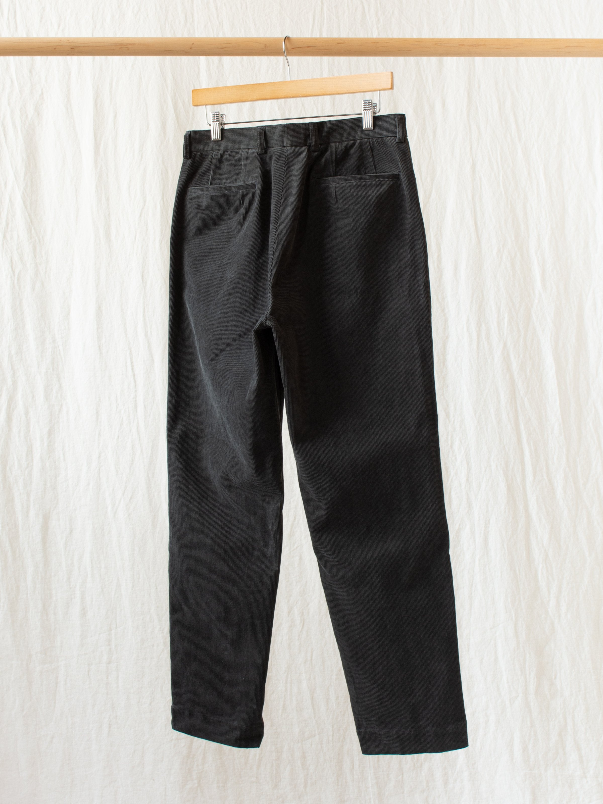 L-Pocket Corduroy Trousers - Charcoal