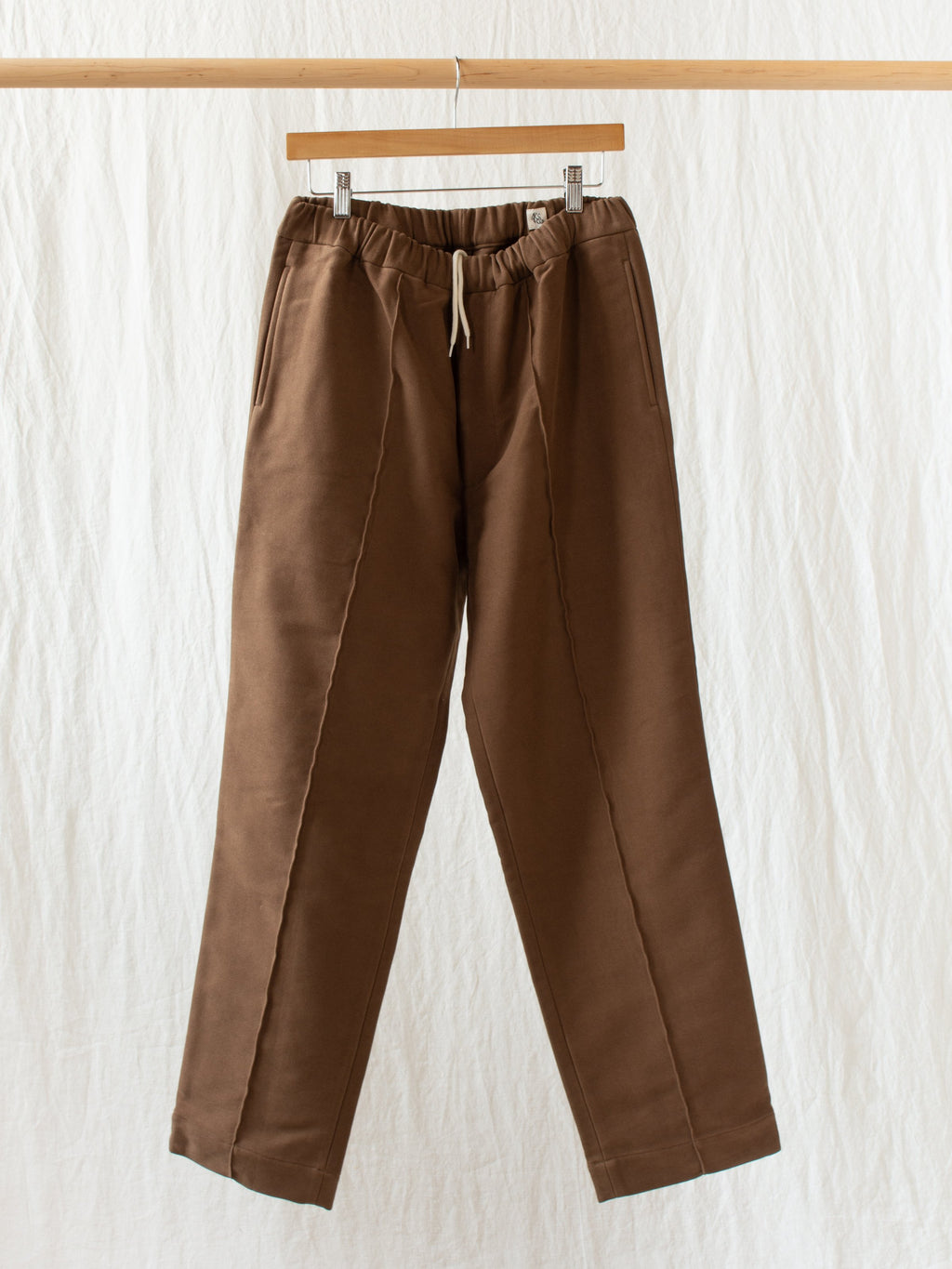 Namu Shop - Kaptain Sunshine Crease Tucked Easy Pants - Mocha