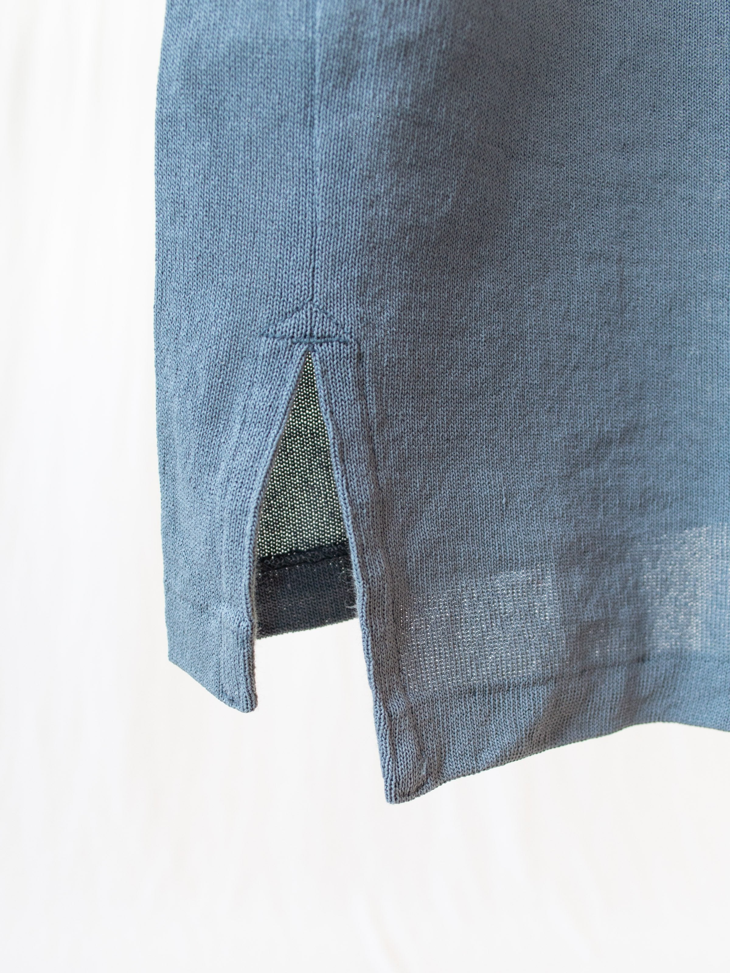 Namu Shop - Kaptain Sunshine Paper Loop Skipper Shirt - Blue Gray