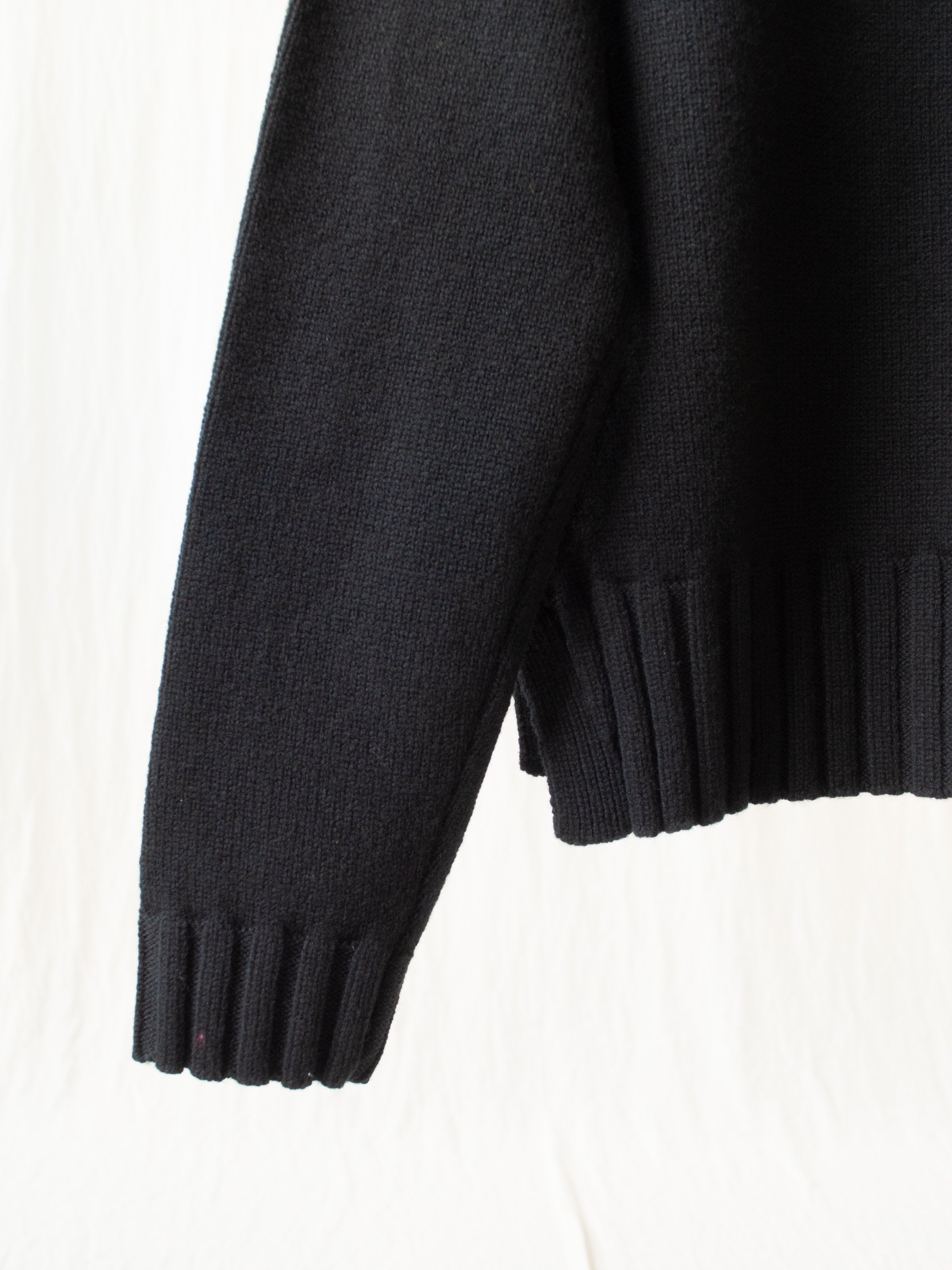 Namu Shop - Studio Nicholson Nieto English Lambswool Split Knit - Black