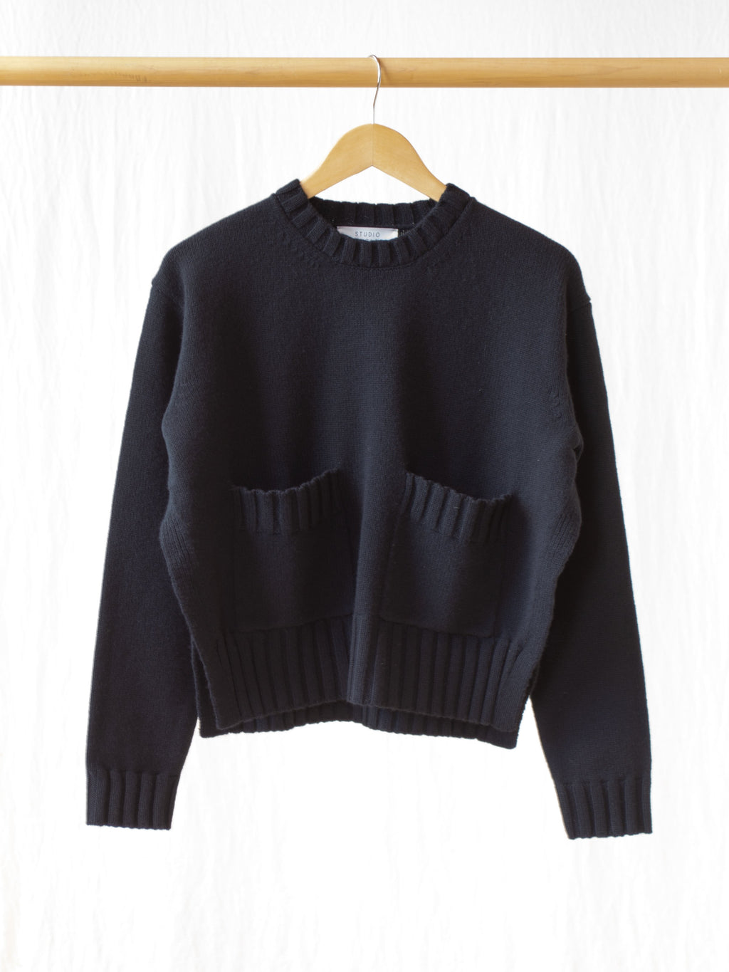 Nieto English Lambswool Split Knit - Black