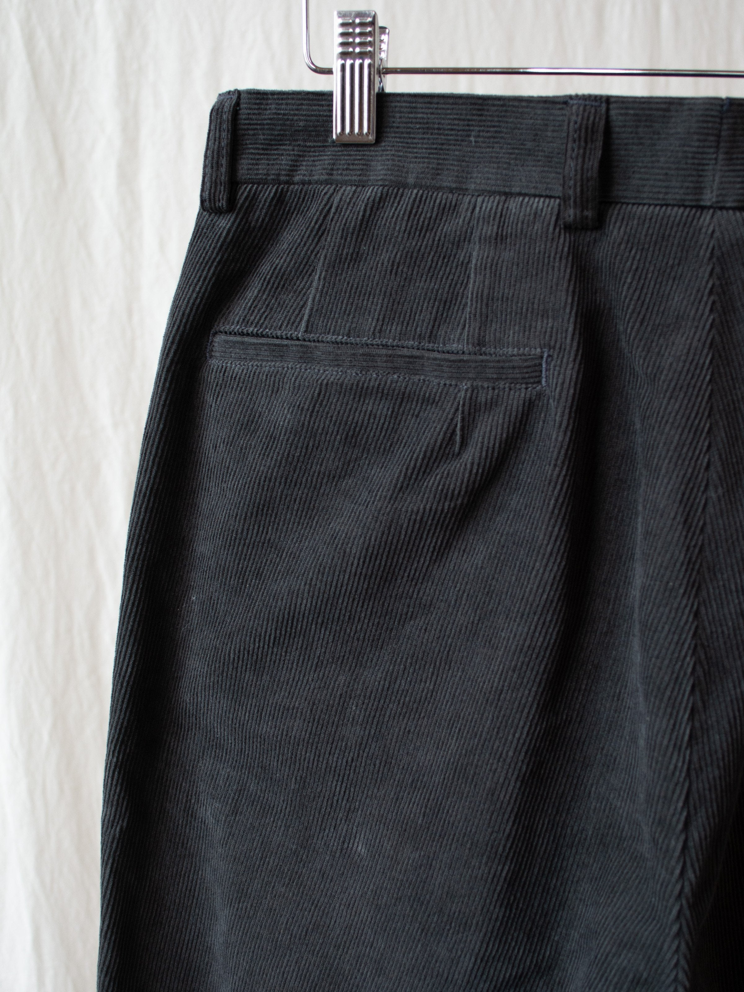 Namu Shop - Kaptain Sunshine L-Pocket Corduroy Trousers - Charcoal