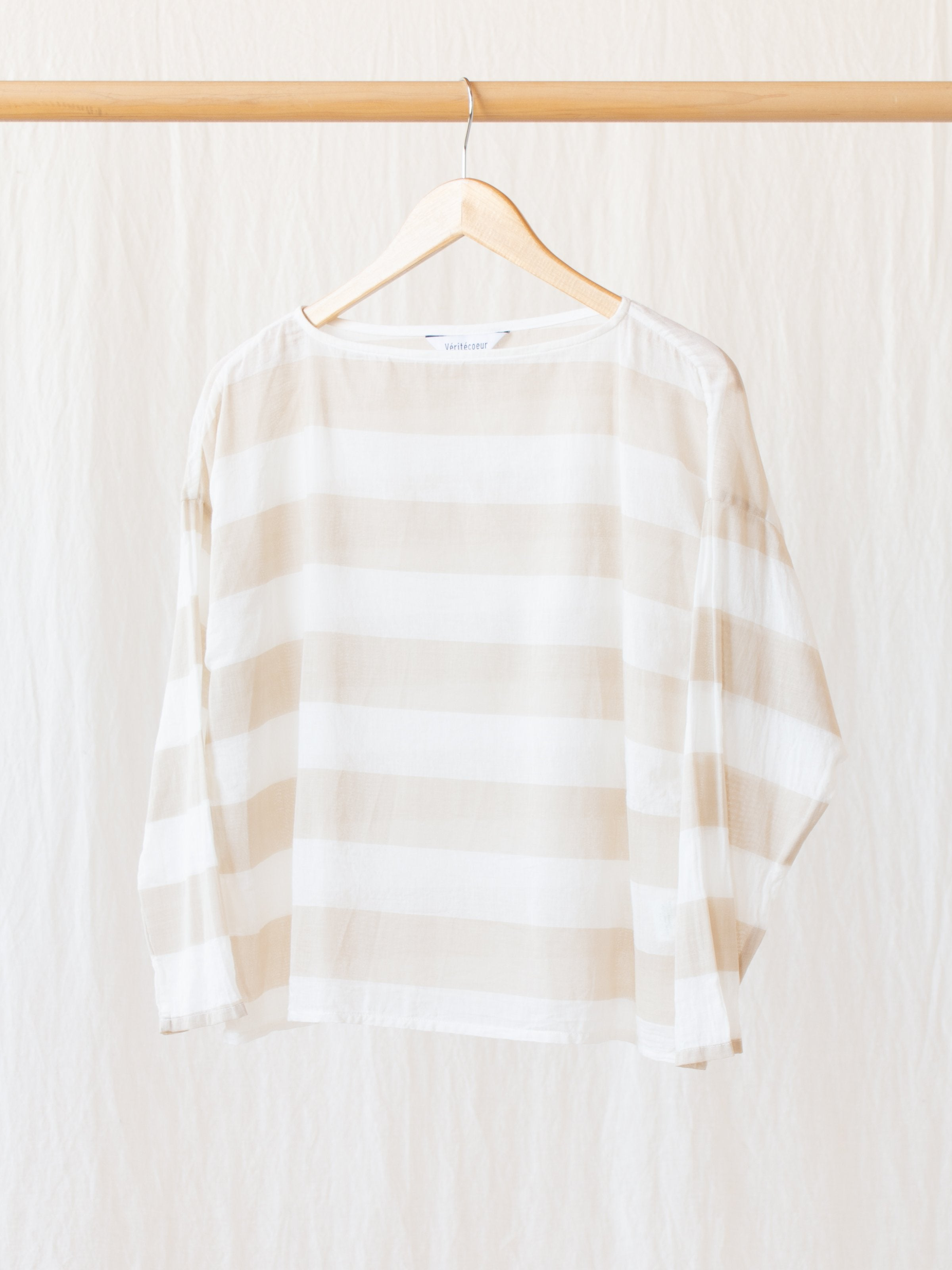 Namu Shop - Veritecoeur Cotton Silk Striped Top