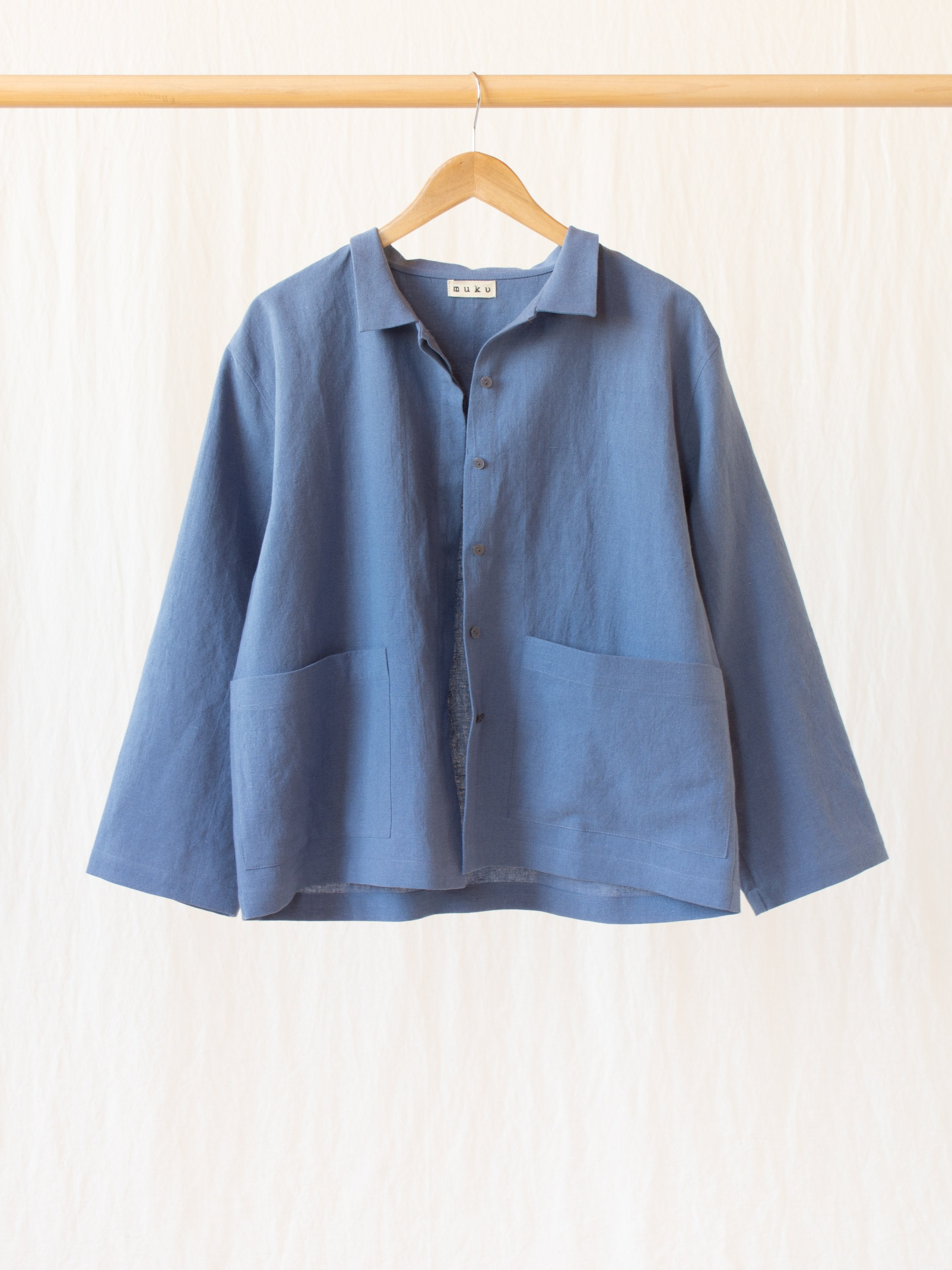 Namu Shop - muku Li / Co Shirt Jacket - Pale Indigo