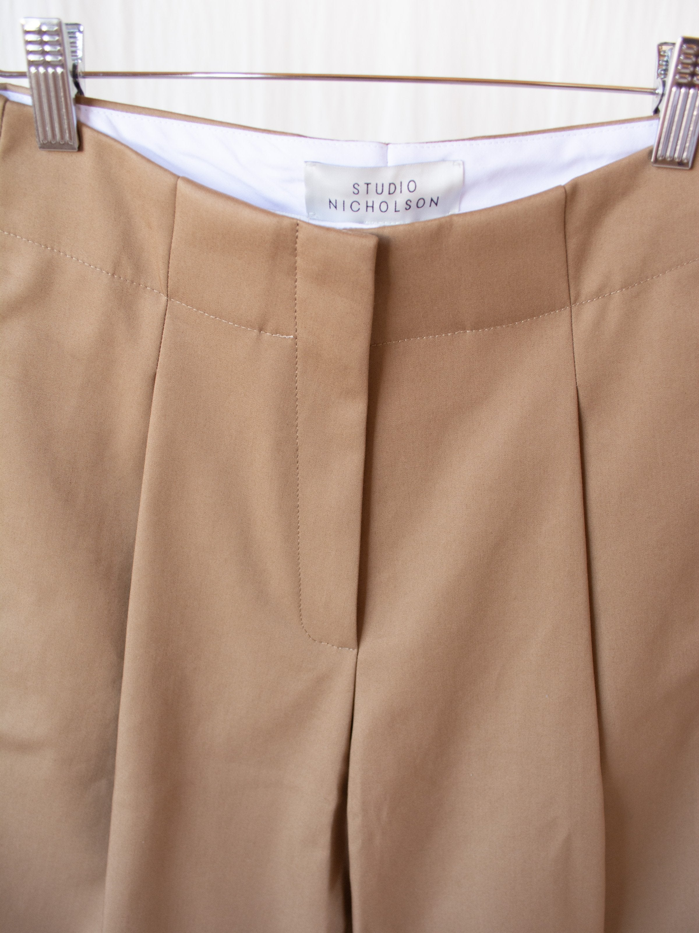 Namu Shop - Studio Nicholson Doriko Volume Pleat Pants - Tan