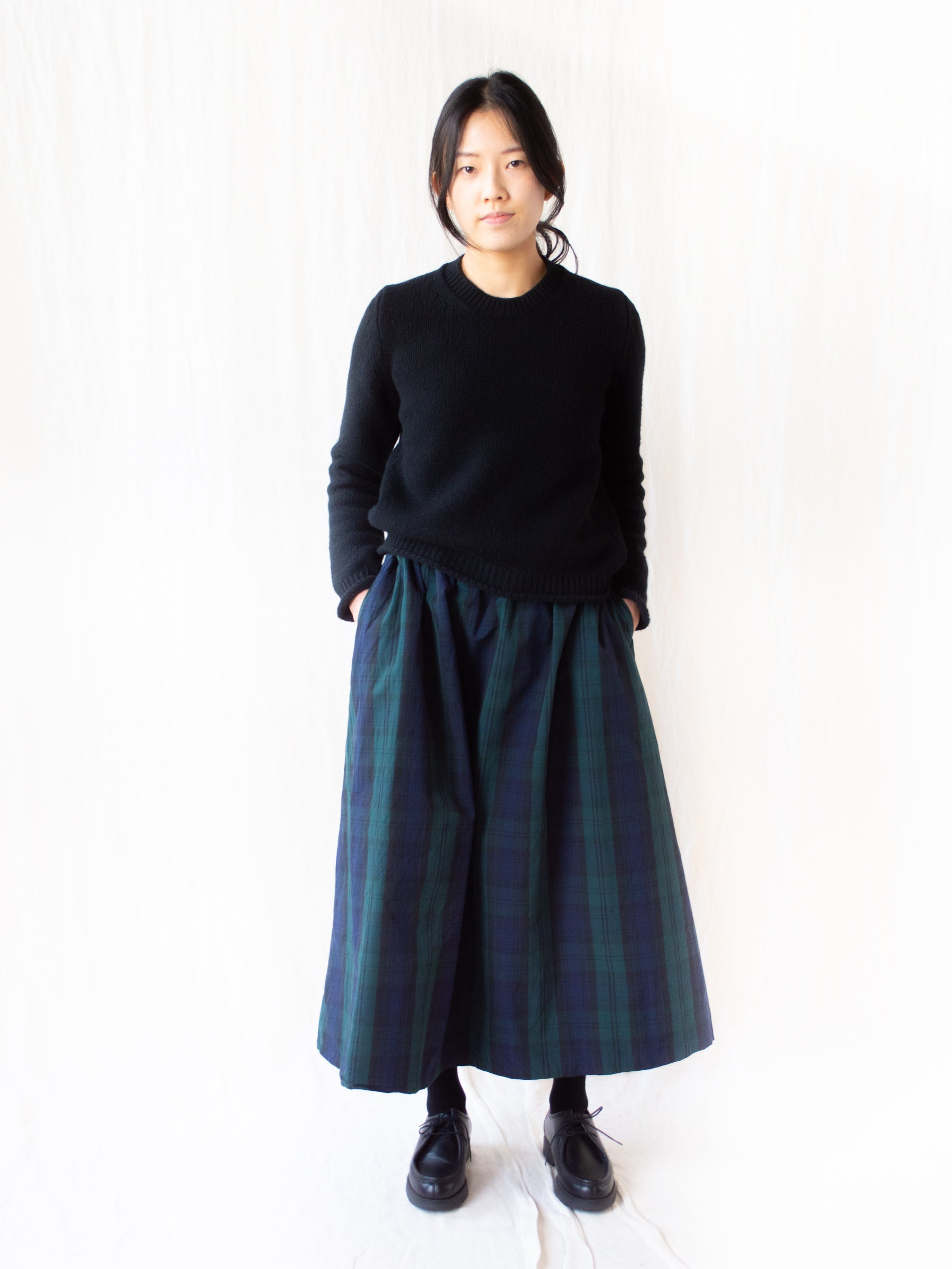 Typewriter Cotton Skirt - Black Watch