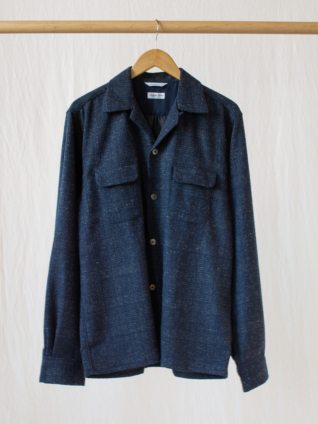 Namu Shop - Fujito Open Collar Shirt - Check