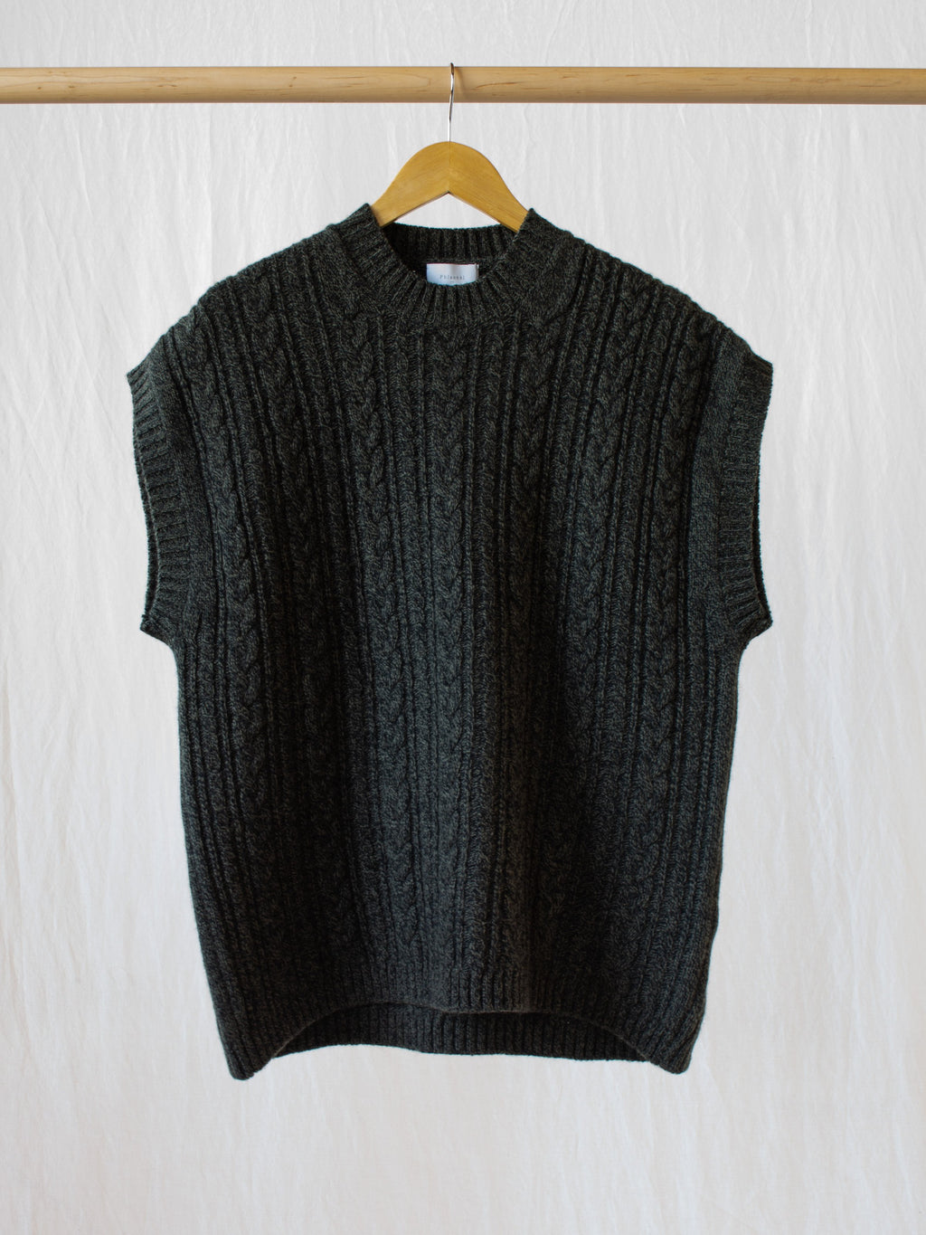 Namu Shop - Phlannel Wool Yak Cable Knit Vest