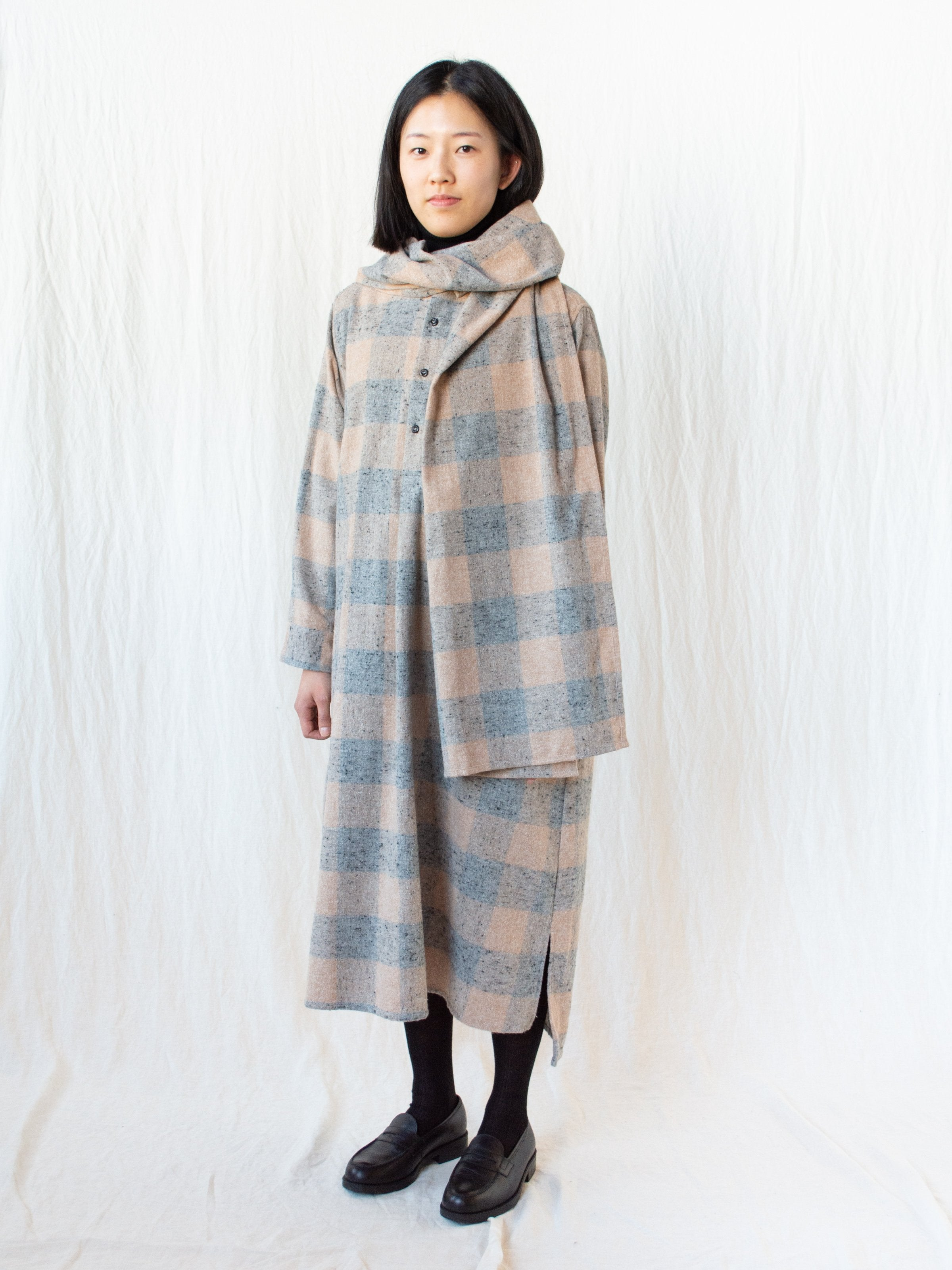 Namu Shop - Ichi Antiquites Block Check Pullover Dress