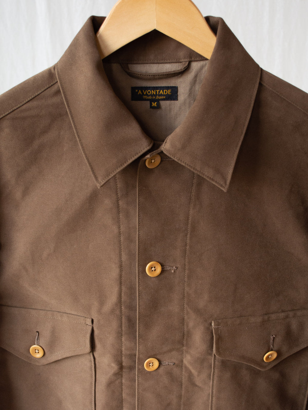 Namu Shop - A Vontade Ike Short Jacket - Cigar Brown