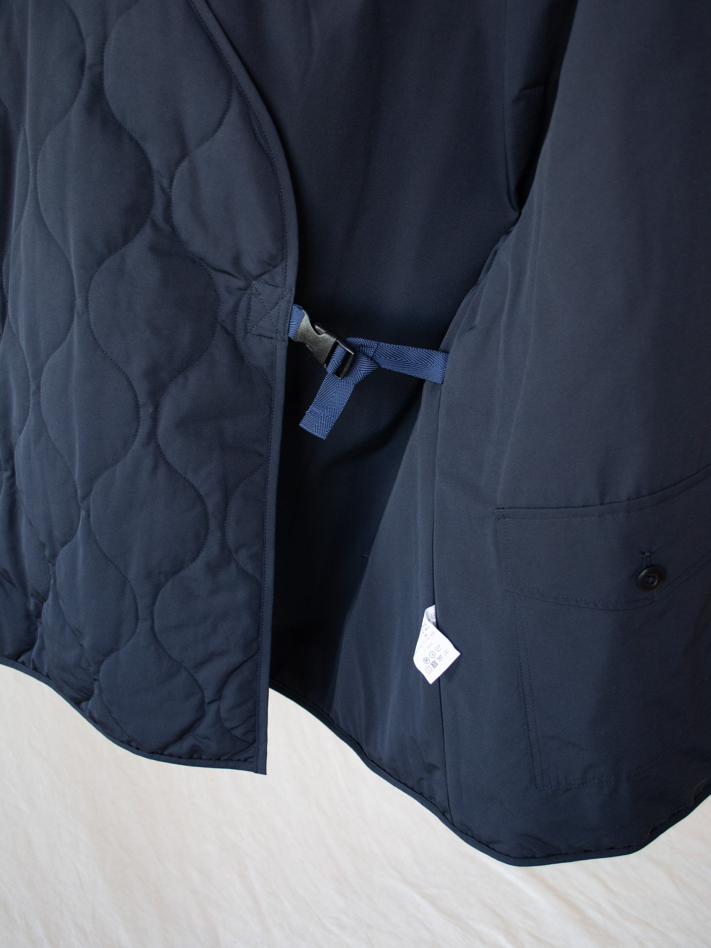 Namu Shop - ts(s) Quilted Liner Buckle Jacket - Navy