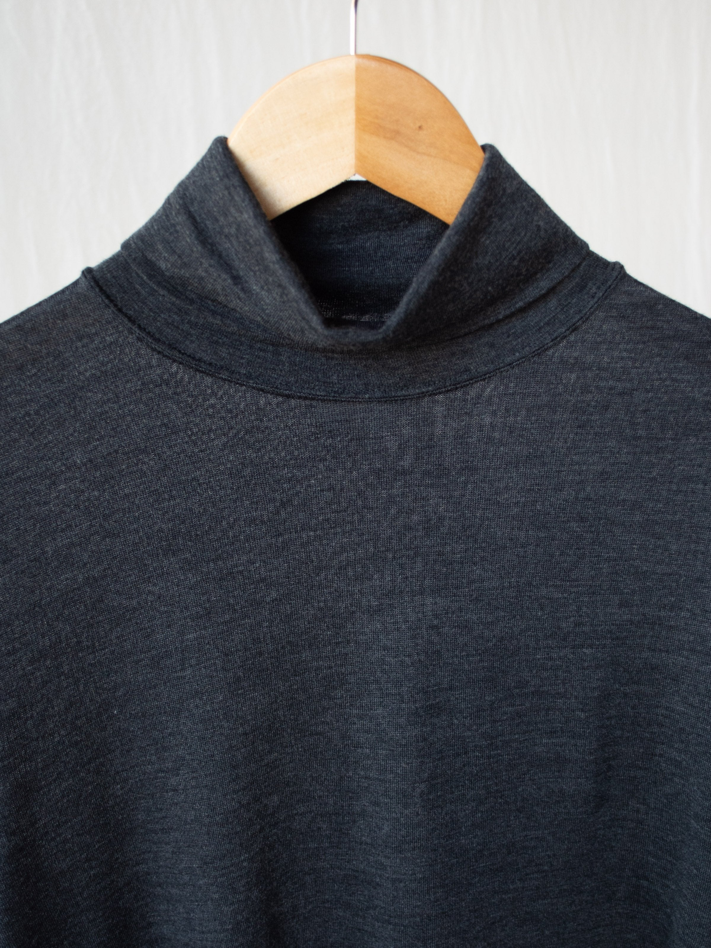 Namu Shop - Phlannel Wool Turtleneck T-Shirt - Gray