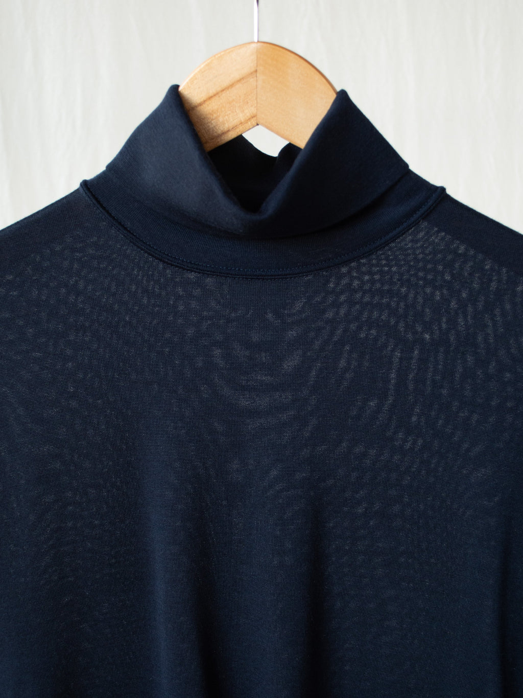 Namu Shop - Phlannel Wool Turtleneck T-Shirt - Navy