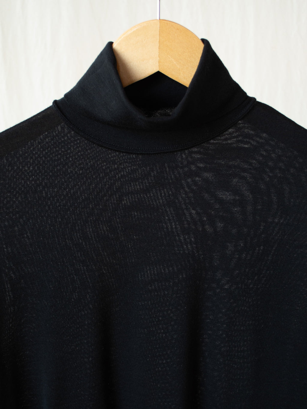 Namu Shop - Phlannel Wool Turtleneck T-Shirt - Black
