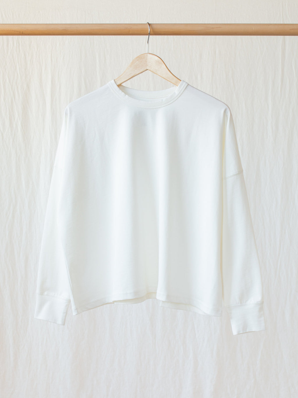 Namu Shop - Studio Nicholson Loop Mercerized Cotton Tee - Optic White