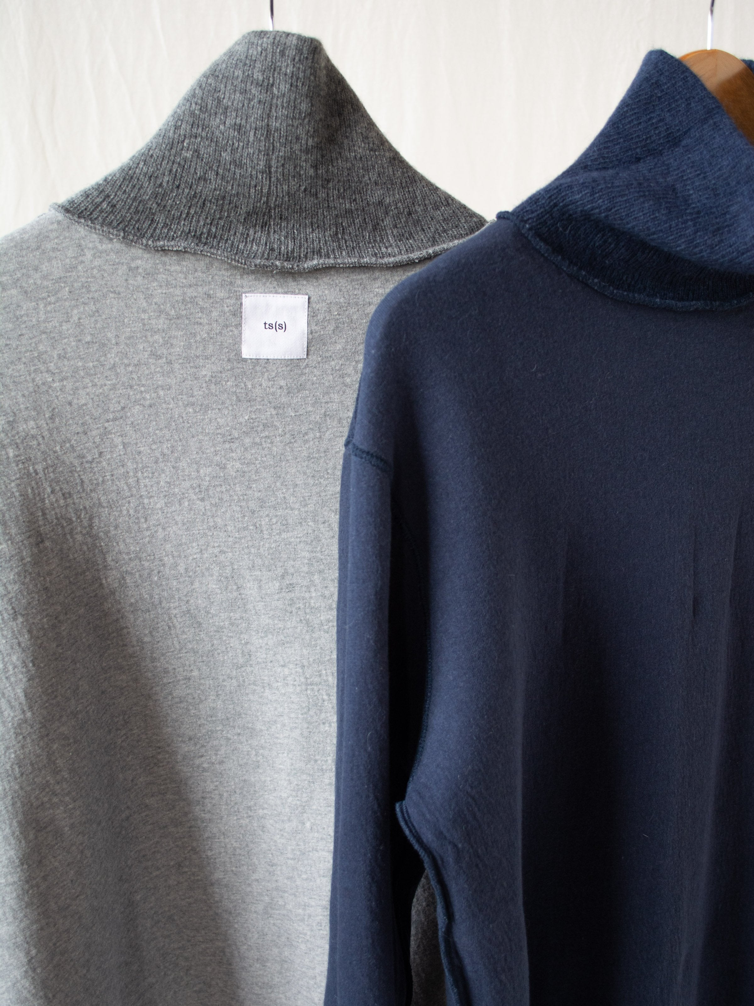 Namu Shop - ts(s) Wool Blend Turtleneck with Double Face Jersey Lining - Navy