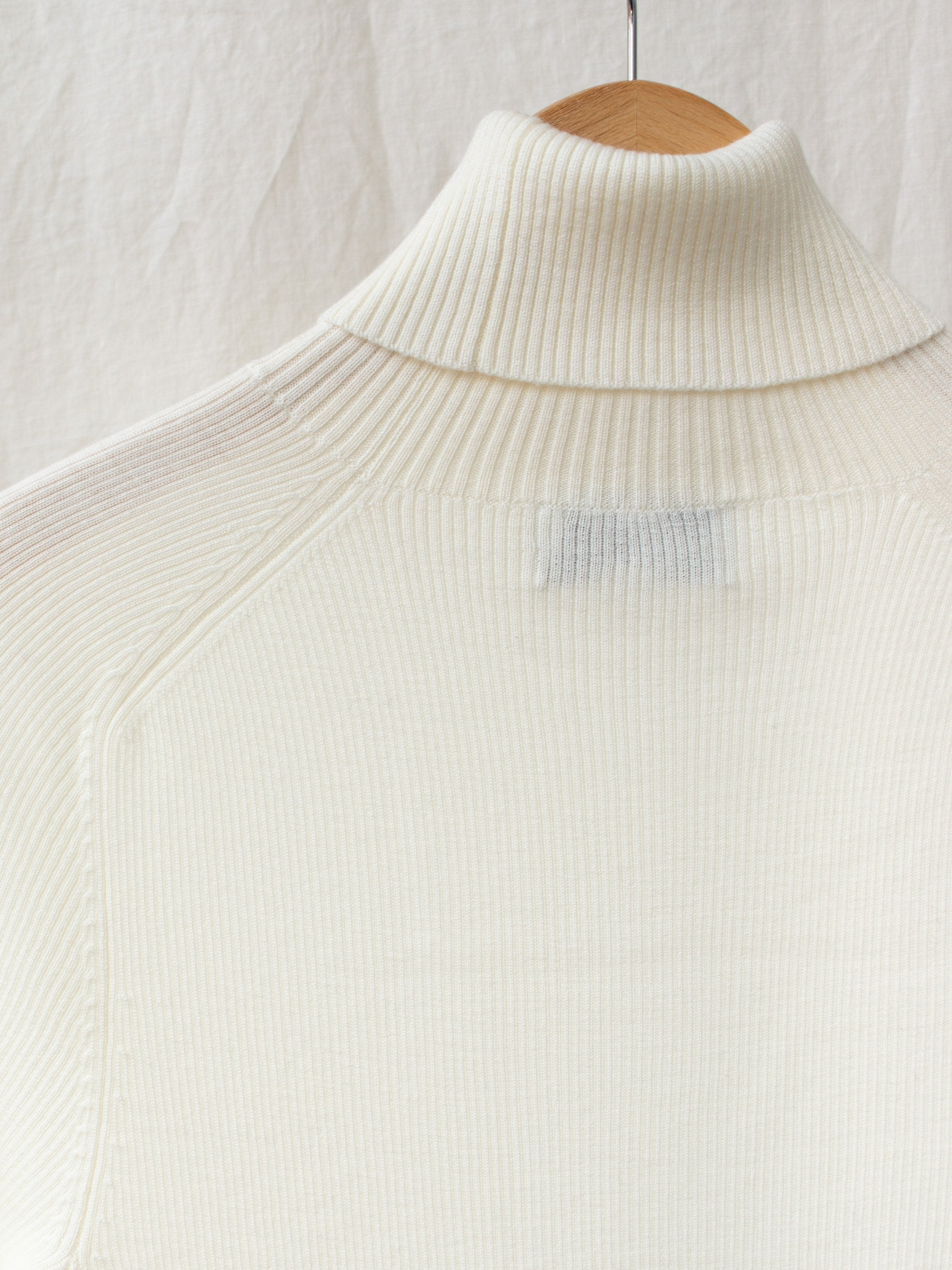 Namu Shop - Studio Nicholson Fine Merino Rib Turtleneck - Cream
