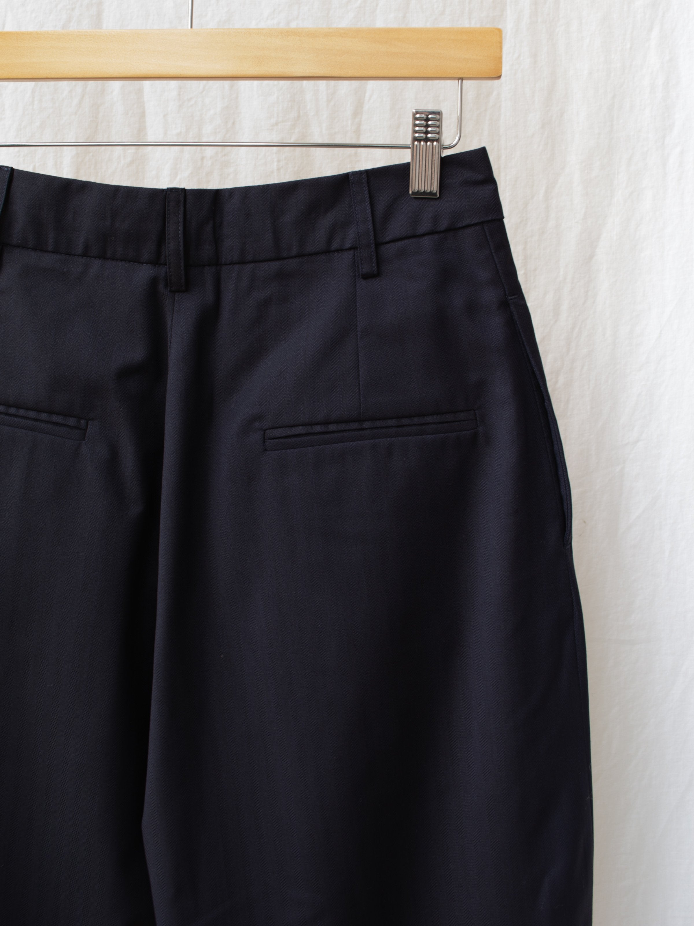 Namu Shop - Studio Nicholson Fine Herringbone Double Pleat Pants