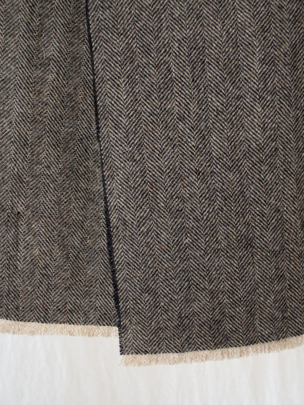 Namu Shop - Eastlogue Wool Scarf - Black & Beige Herringbone