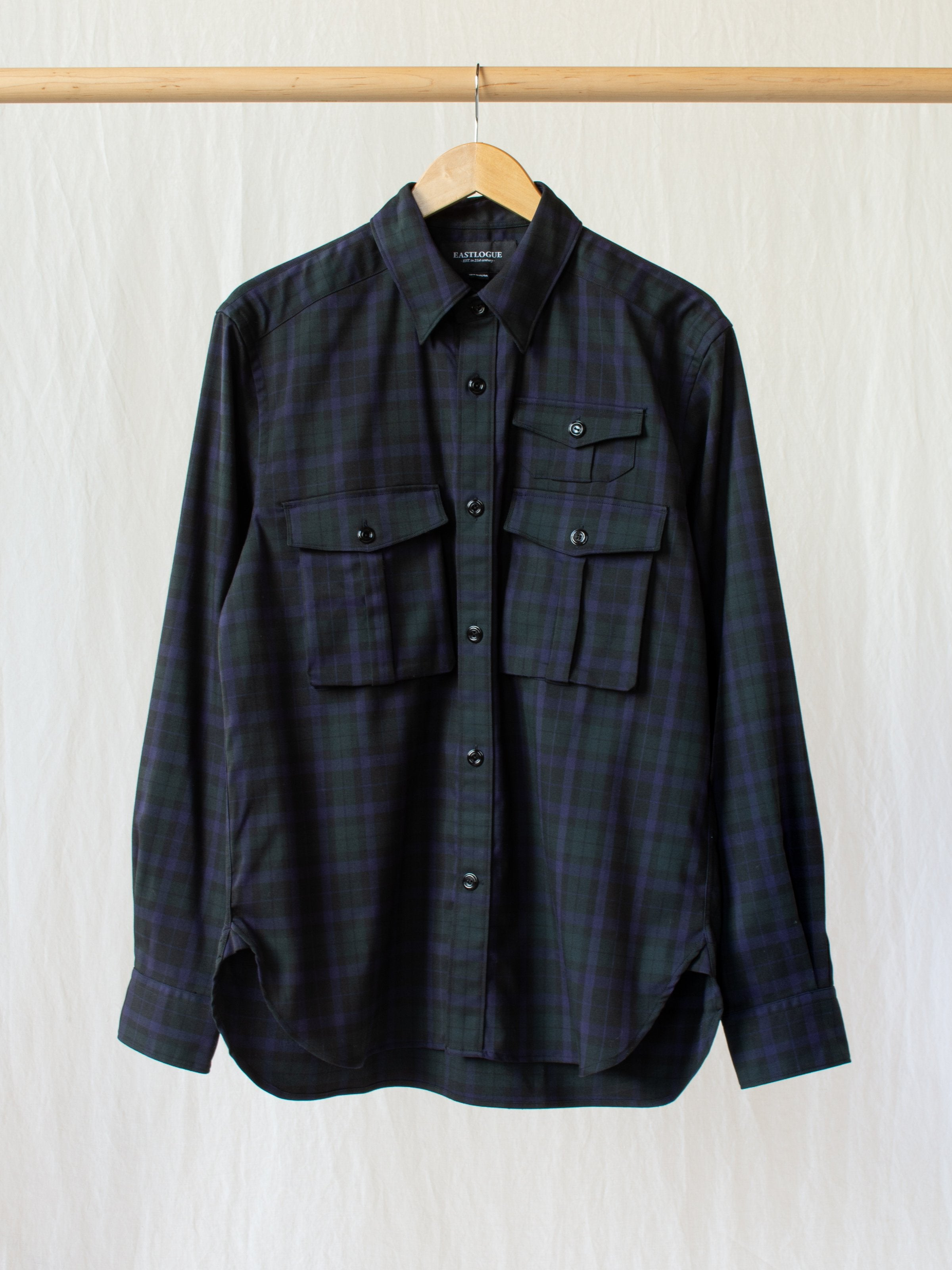 Namu Shop - Eastlogue Boyscout Shirt - Black Watch Twill