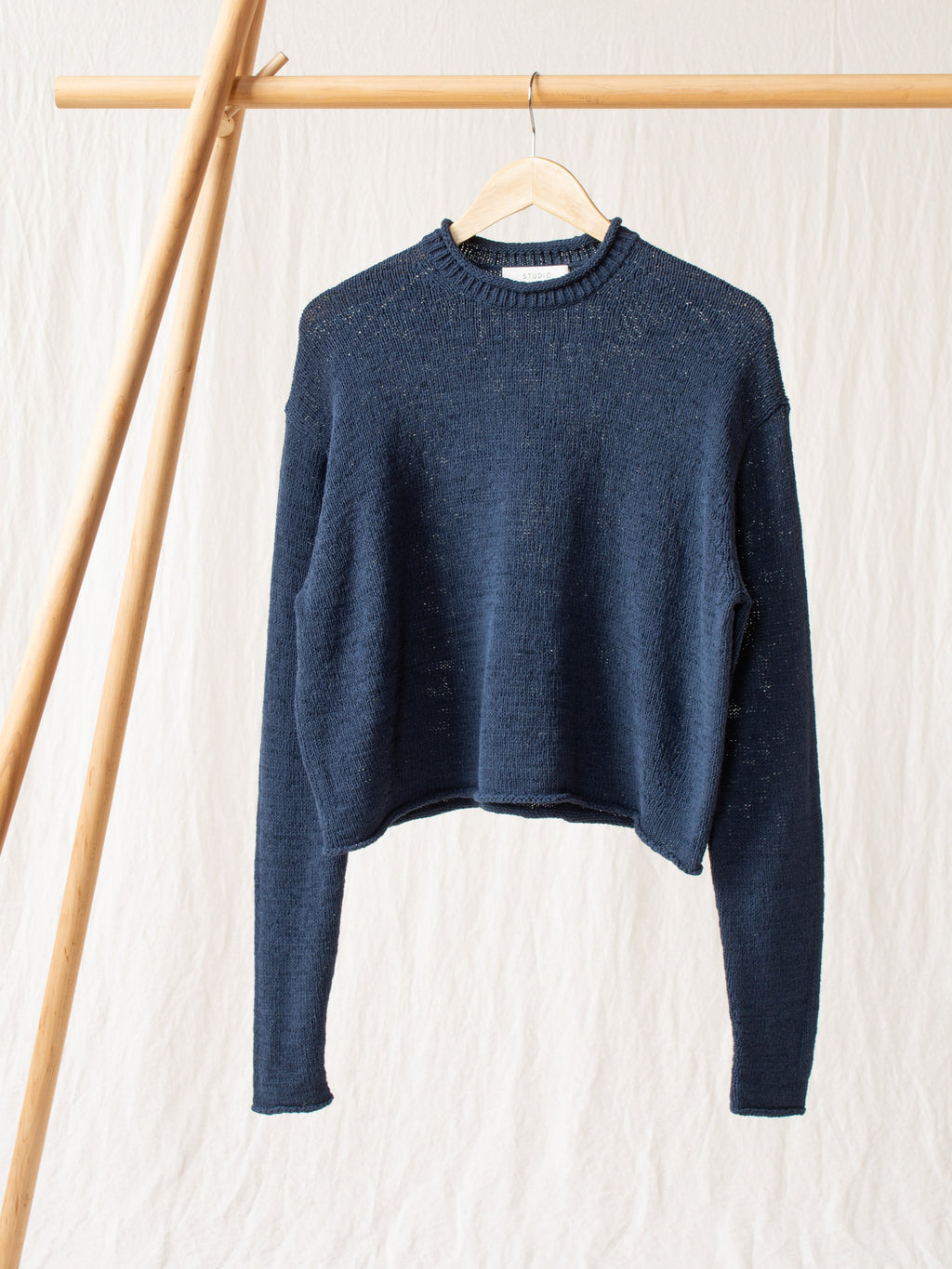 Namu Shop - Studio Nicholson Ruiz Modern Ribbon Knit - Navy