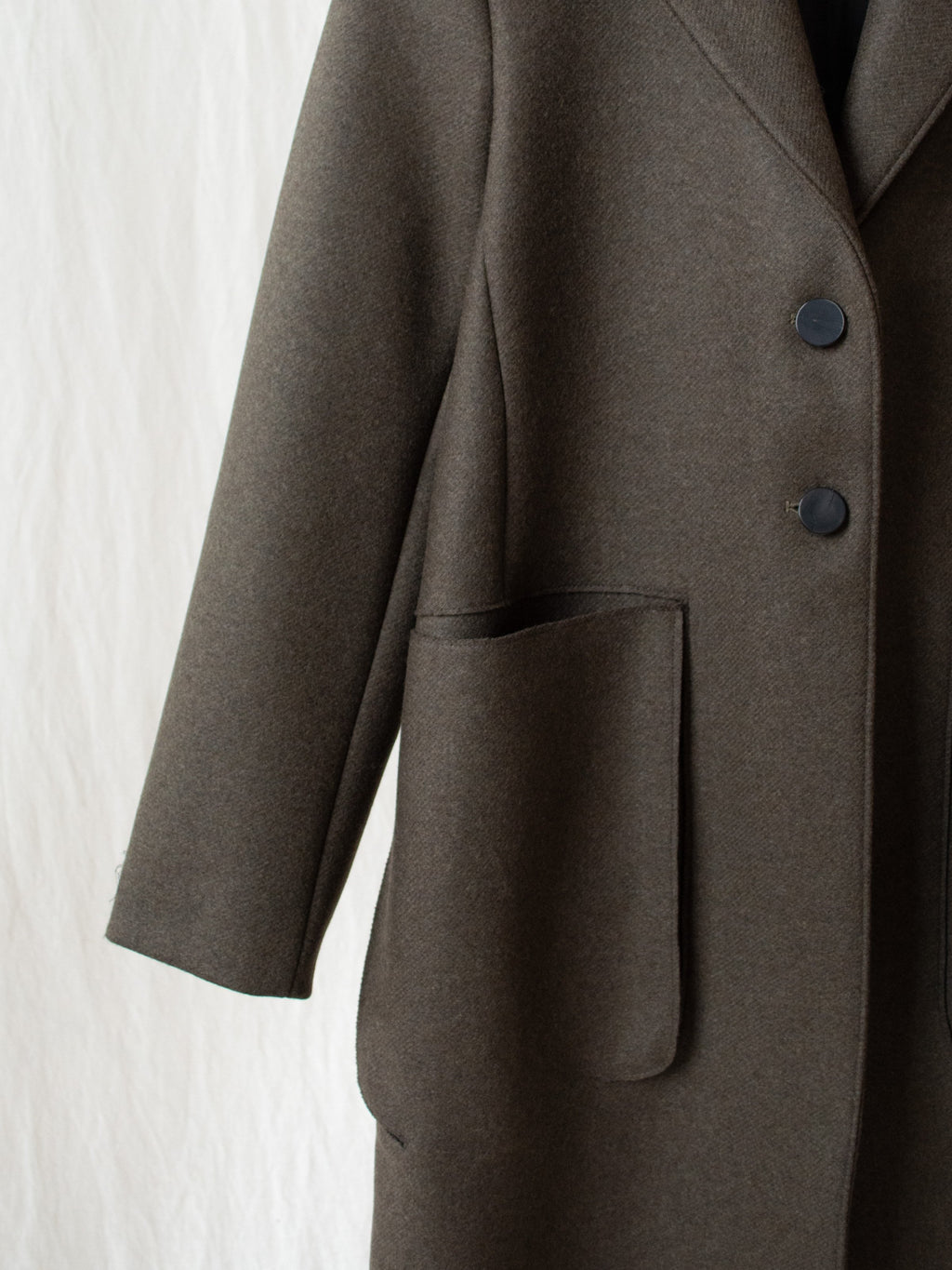 Namu Shop - Studio Nicholson Ounce Coat in Double Faced Wool - Forest Green