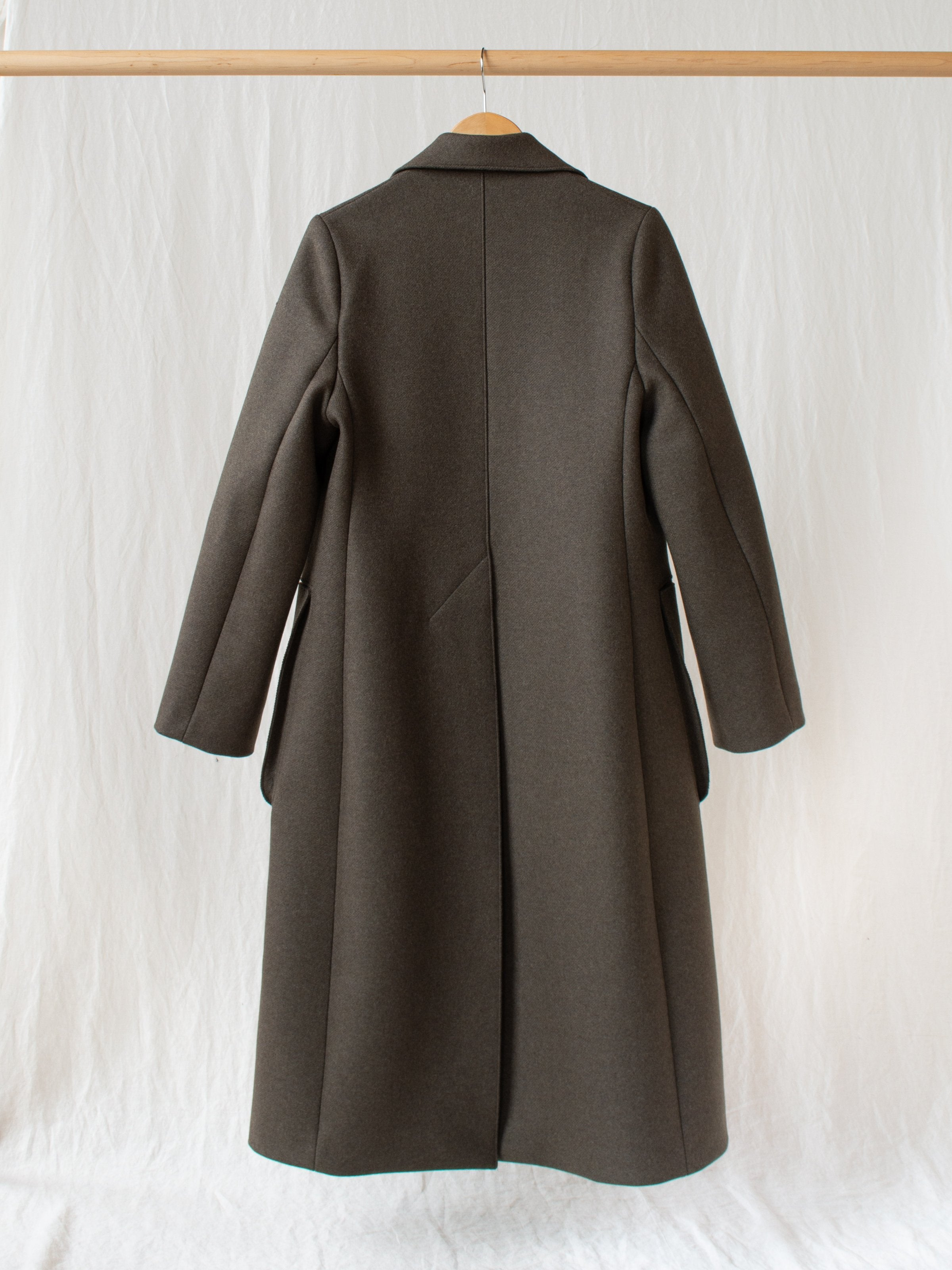 Ounce Coat in Double Faced Wool - Forest Green