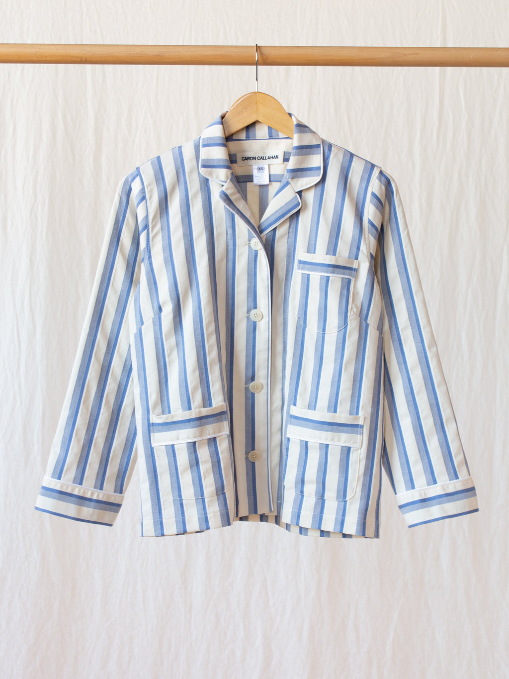 Namu Shop - Caron Callahan Jonis Shirt - Blue Shadow Stripe