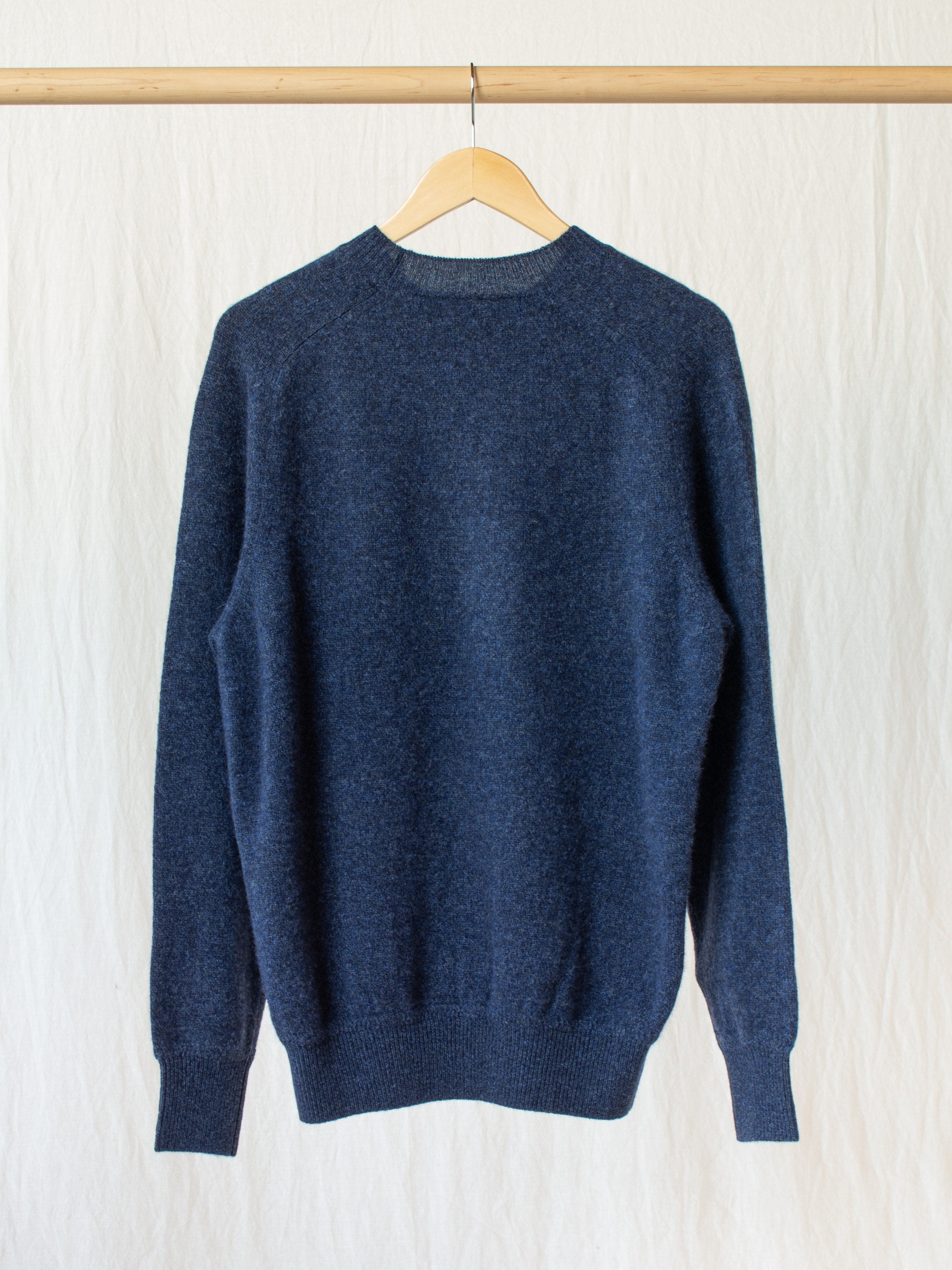 Namu Shop - Phlannel Wool Cashmere Crew Neck Knit - Indigo