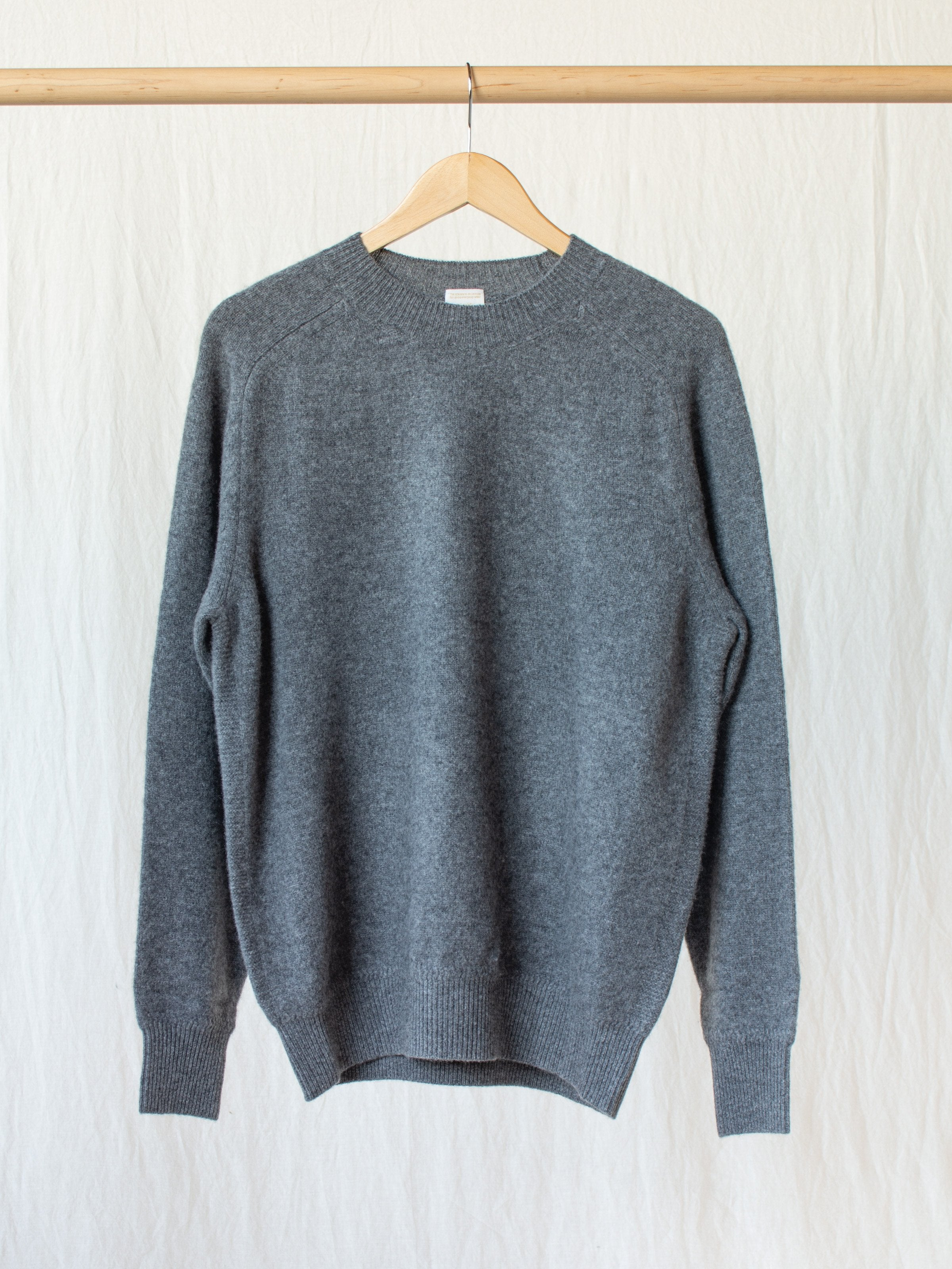 Namu Shop - Phlannel Wool Cashmere Crew Neck Knit - Gray