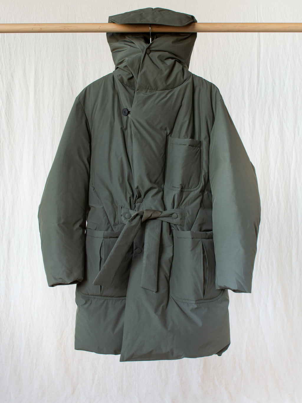 Namu Shop - Document Duck Down Robe Coat - Sage