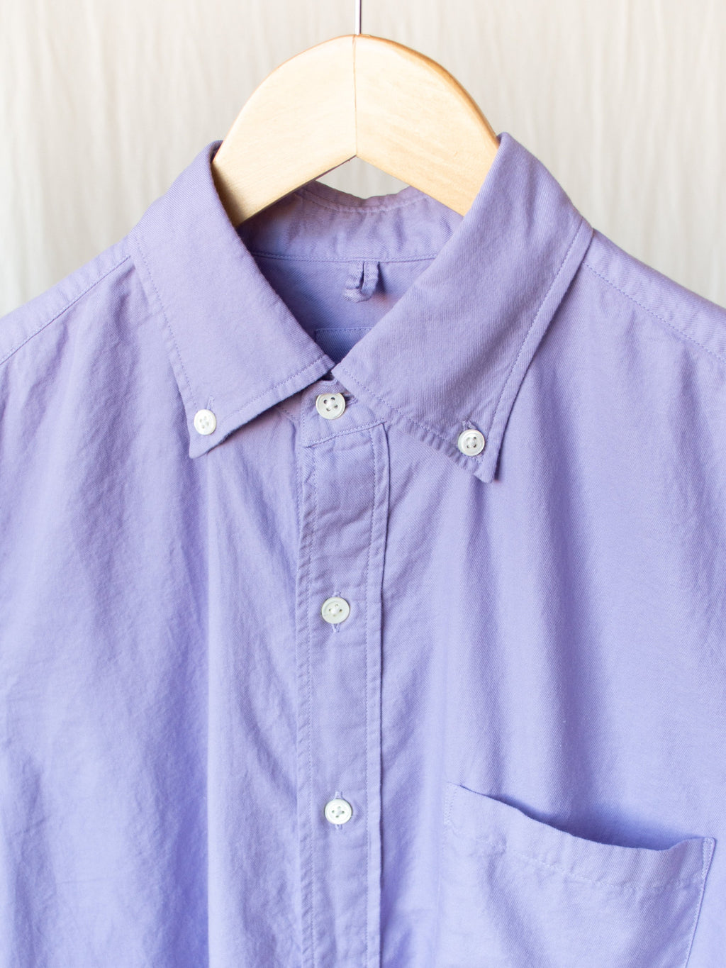 Namu Shop - ts(s) Garment Dyed Cotton Viyella BD Shirt - Lavender