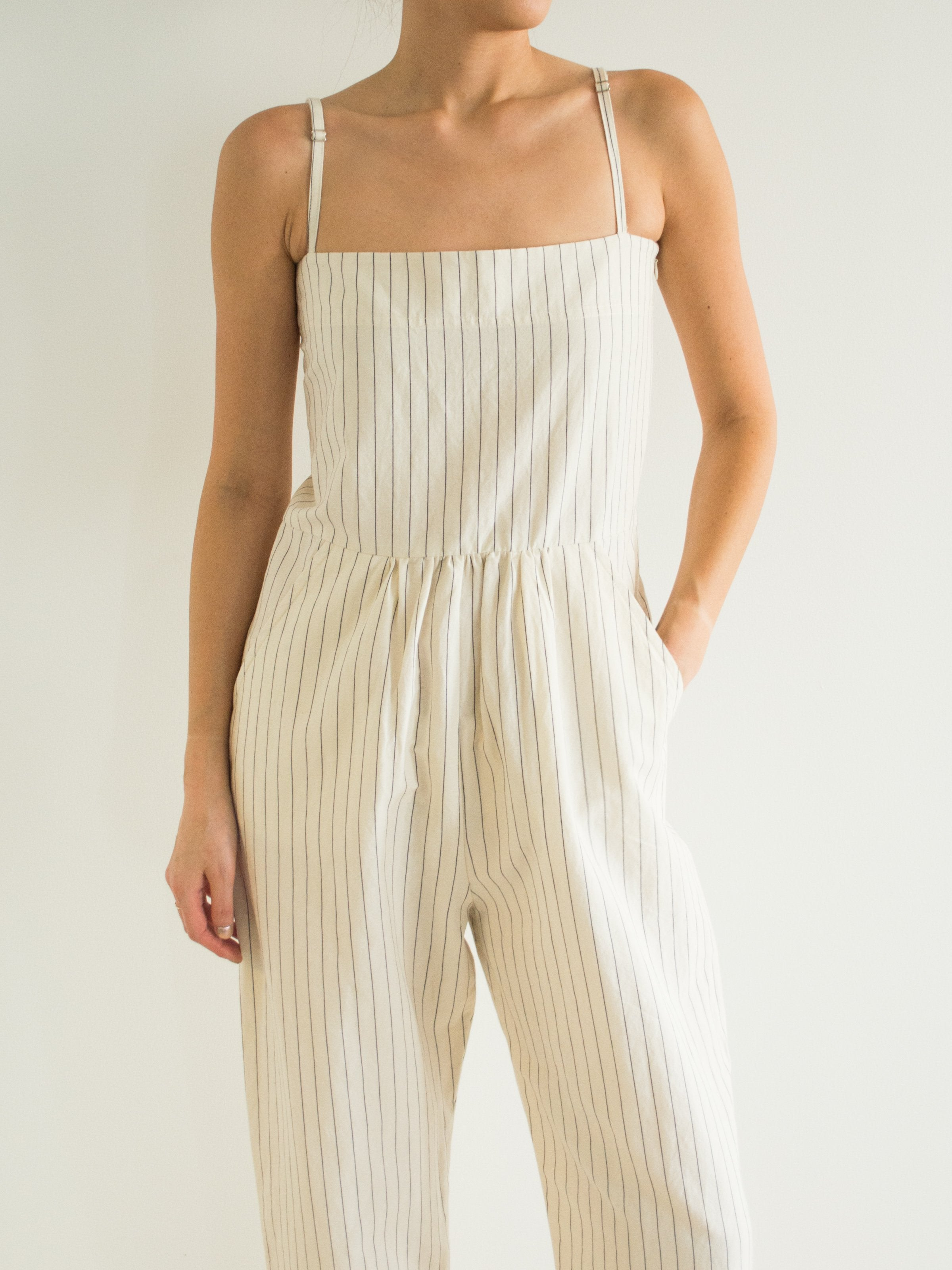 Namu Shop - Caron Callahan Bethany Jumpsuit in Stripe