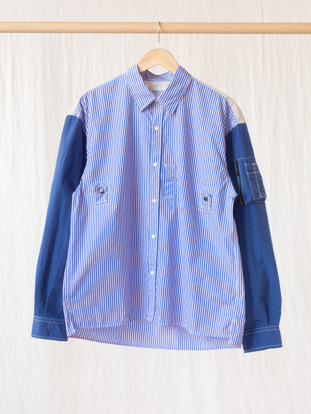 Namu Shop - Eastlogue MA-1 Shirt - Blue Stripe