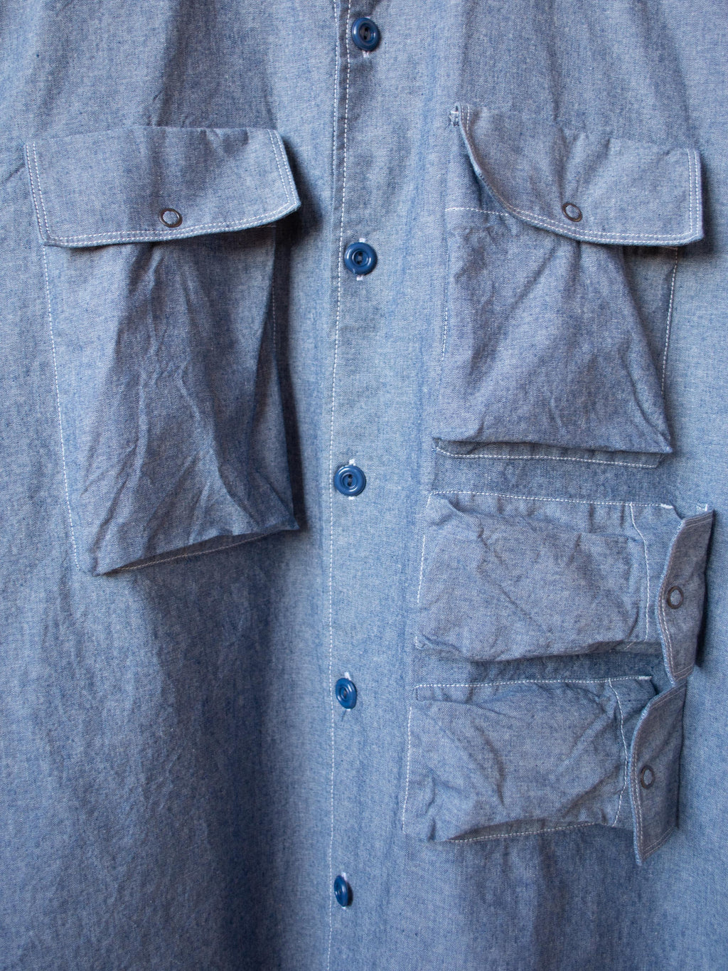 Utility Field Shirt - Blue Chambray