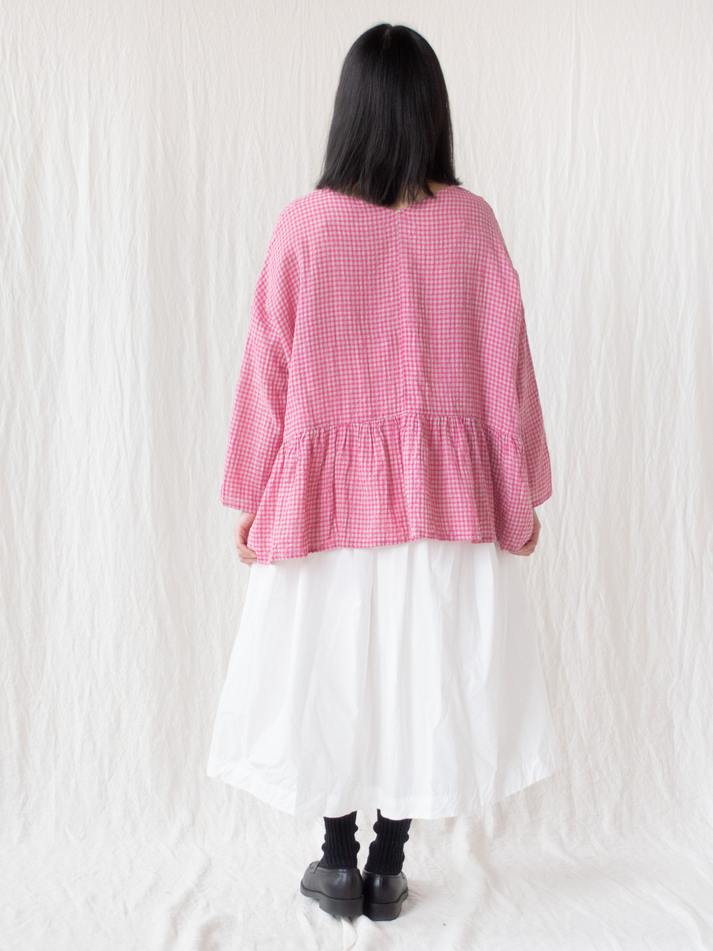 Namu Shop - Ichi Antiquites Typewriter Cotton Wrap Skirt - White