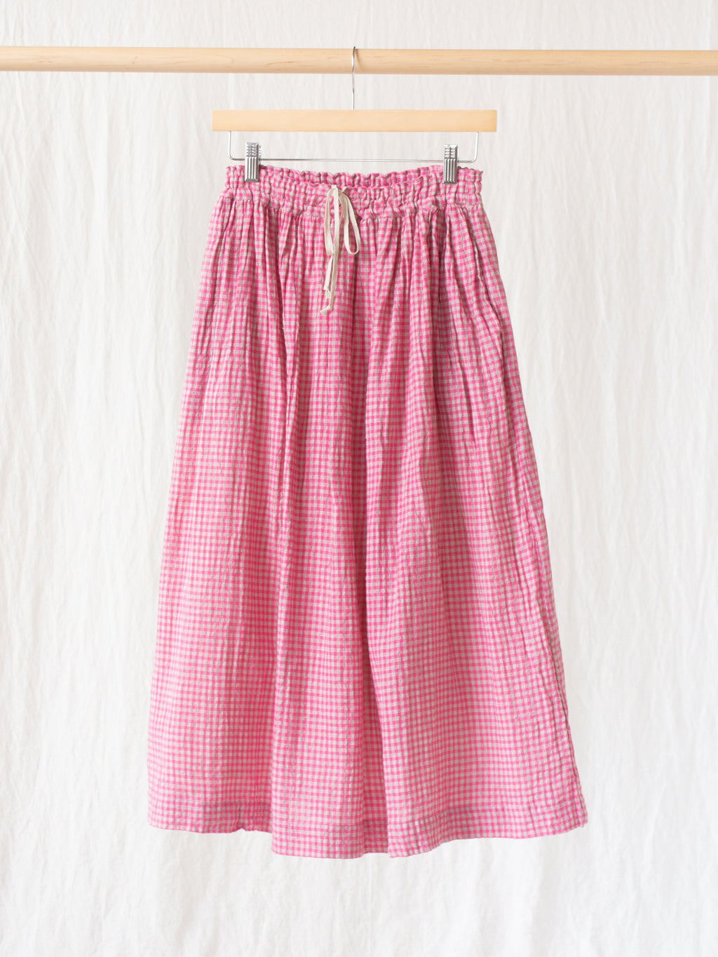 Namu Shop - Ichi Antiquites Co/Li Gingham Skirt - Pink