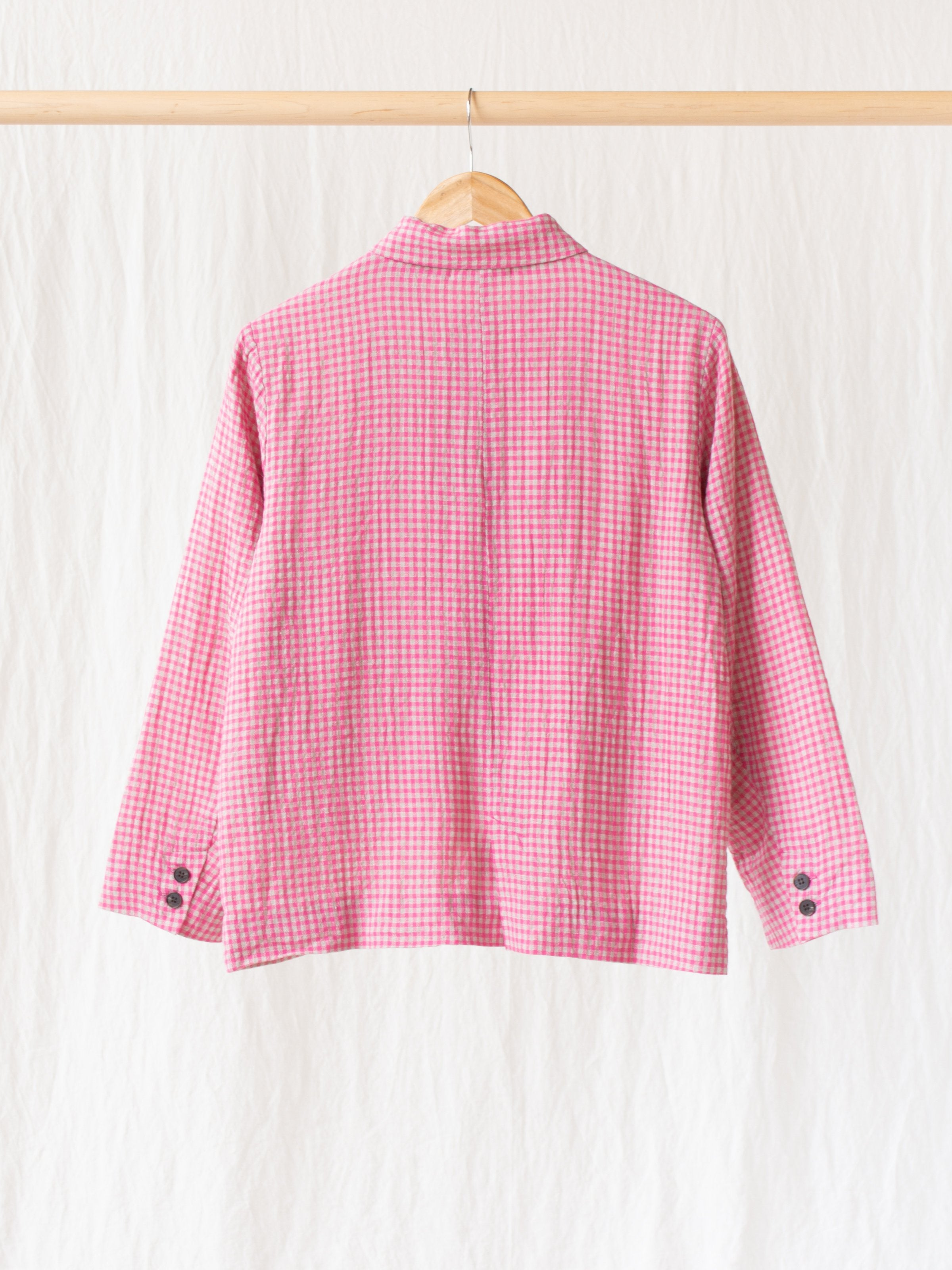 Namu Shop - Ichi Antiquites Co/Li Gingham Jacket - Pink