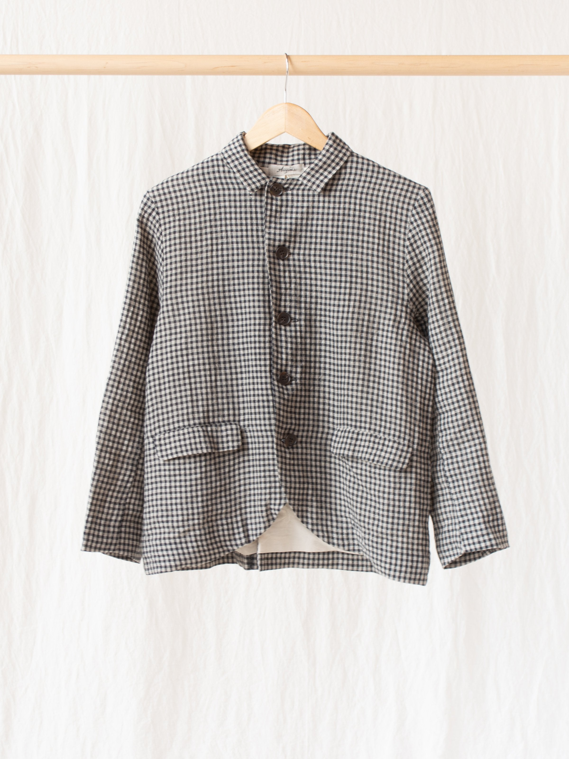 Namu Shop - Ichi Antiquites Co/Li Gingham Jacket - Black