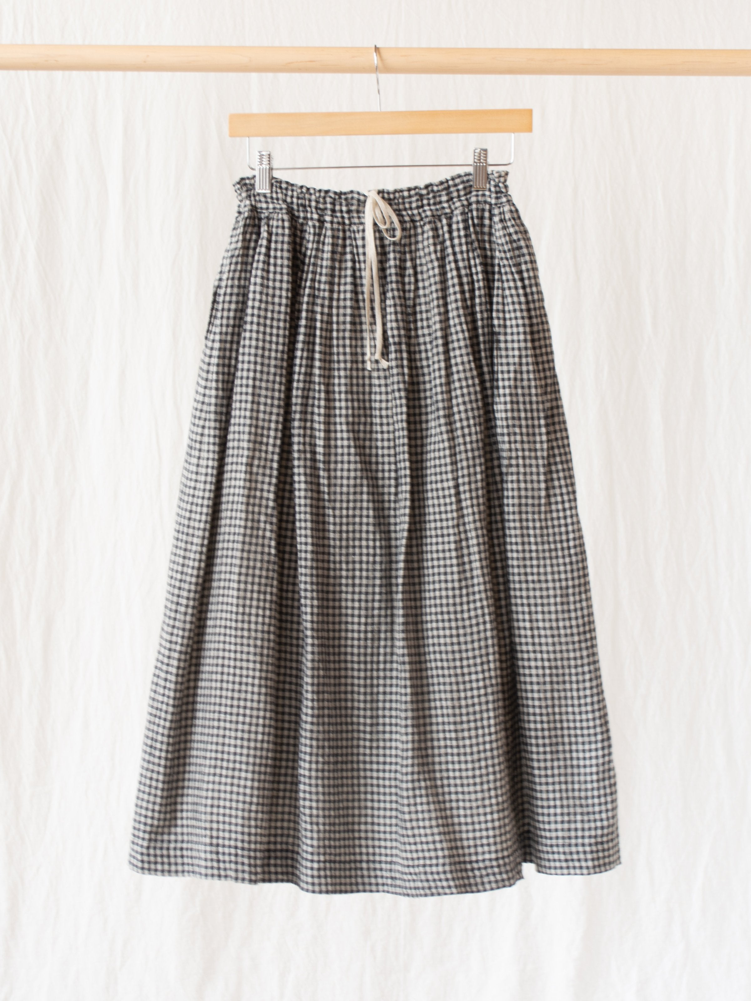 Namu Shop - Ichi Antiquites Co/Li Gingham Skirt - Black