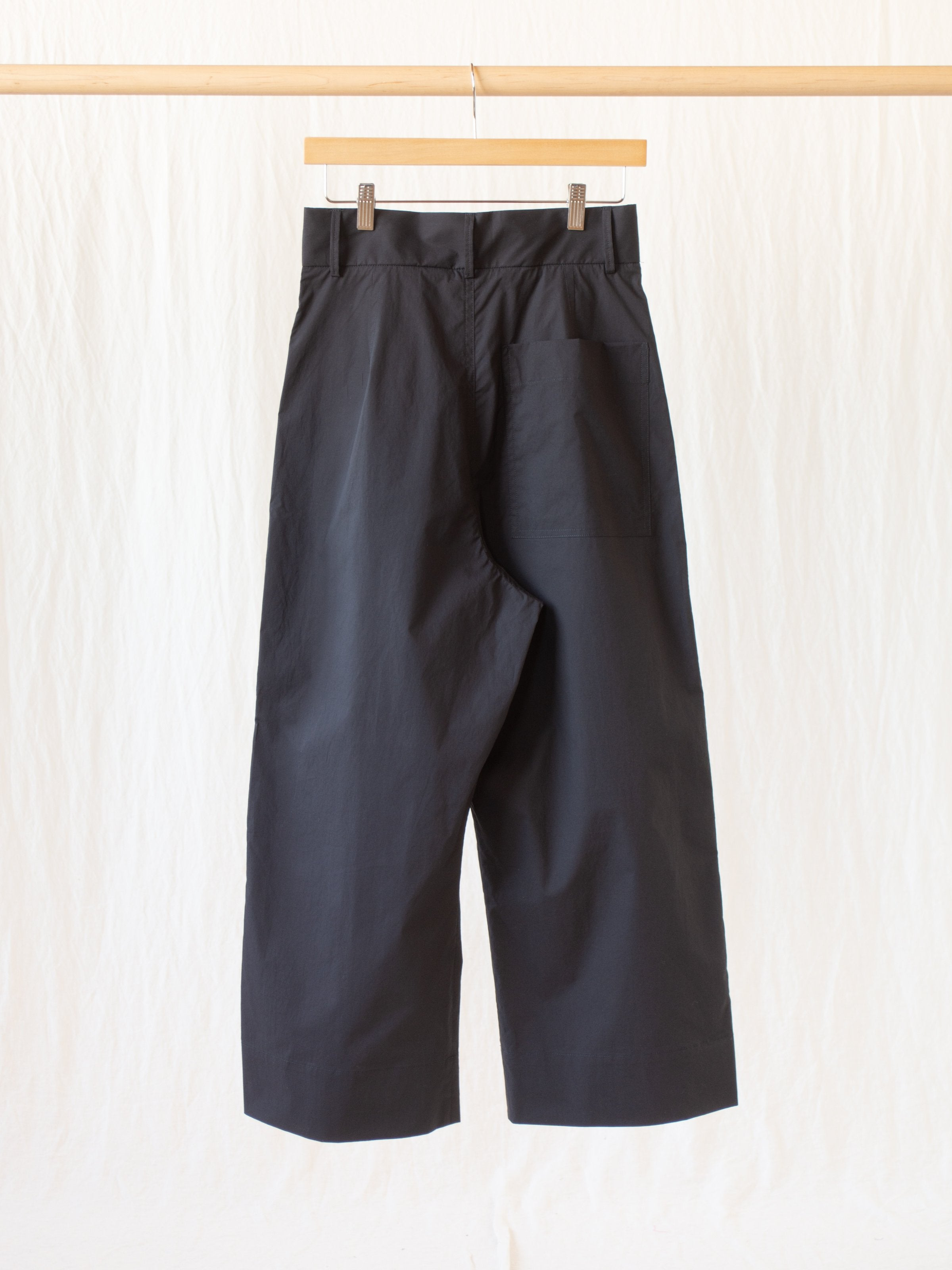 Namu Shop - Studio Nicholson Greta Pant - Black Extrafine Cotton