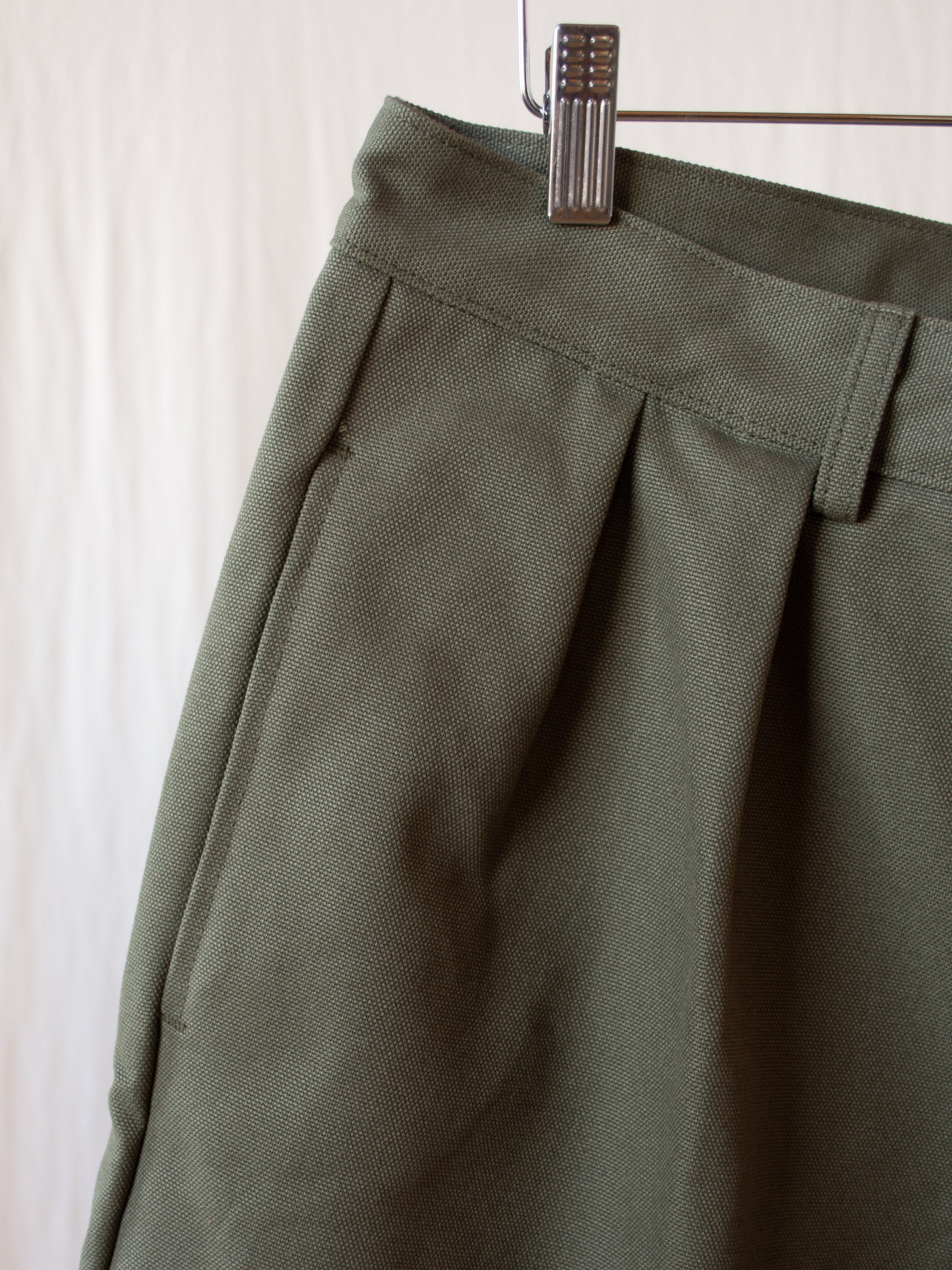 Namu Shop - paa Double Pleat Shorts - Olive