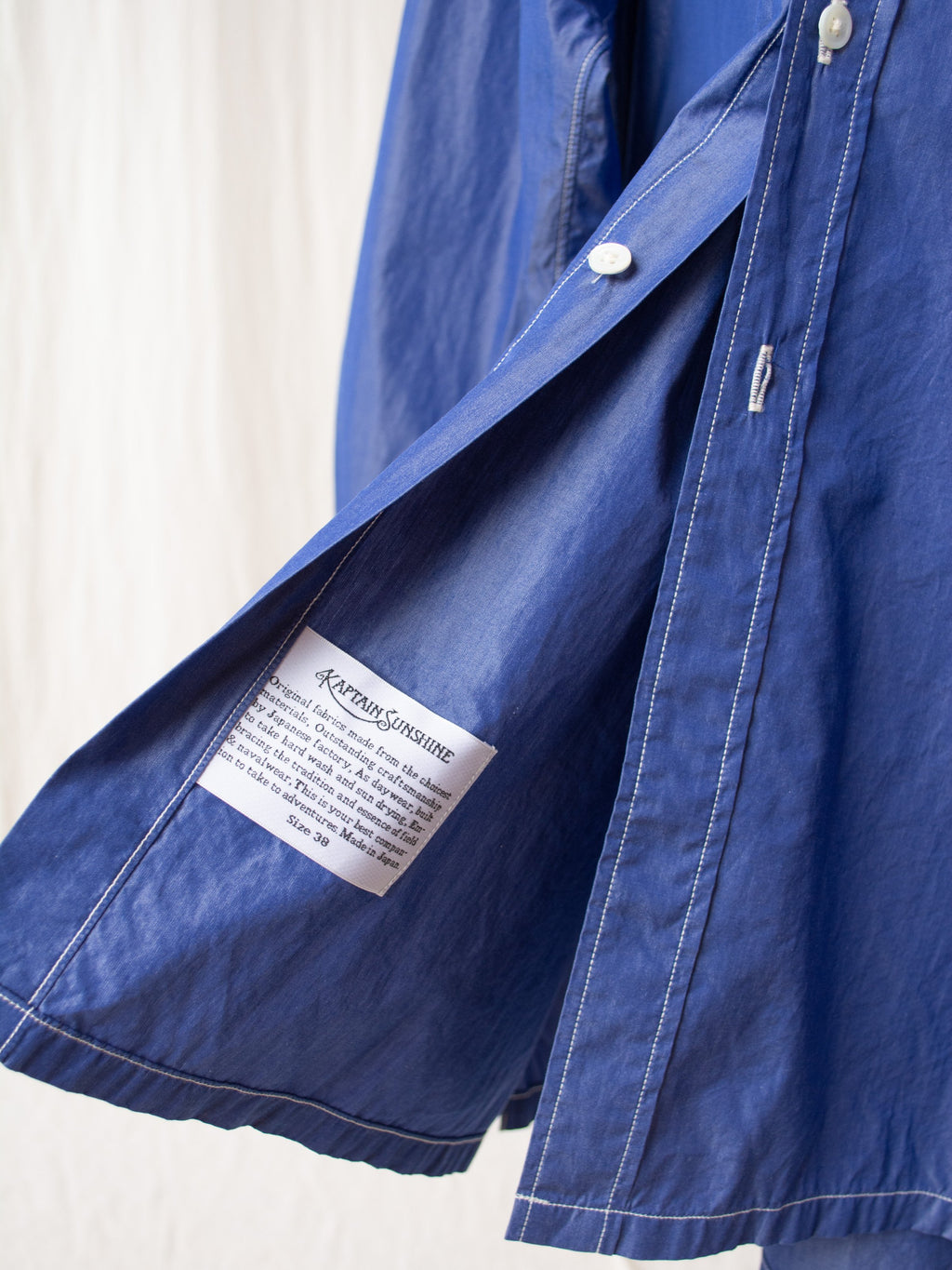 Regular Collar Shirt - Blue Chambray